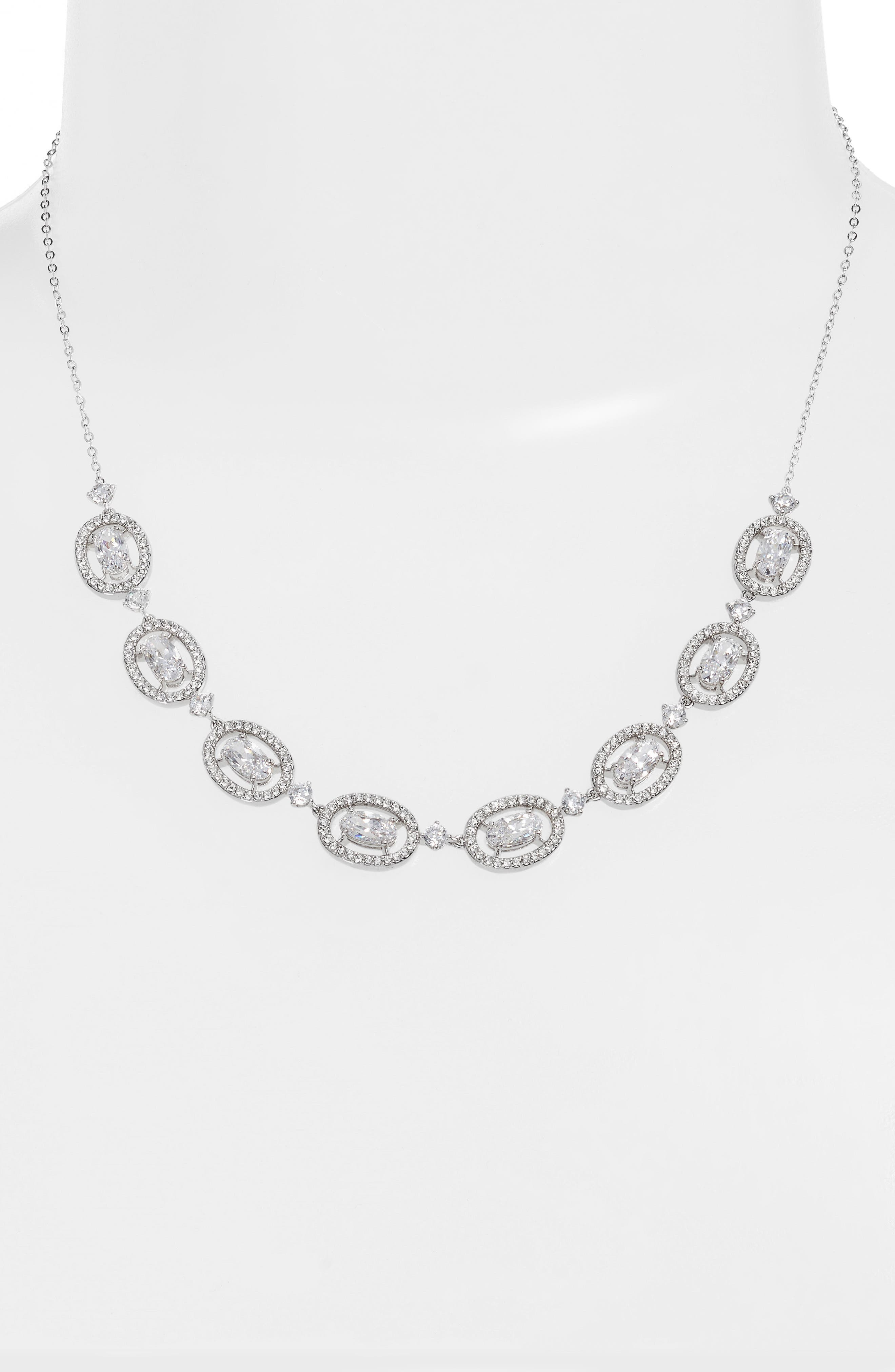 Frontal Necklace,                             Alternate thumbnail 2, color,                             SILVER