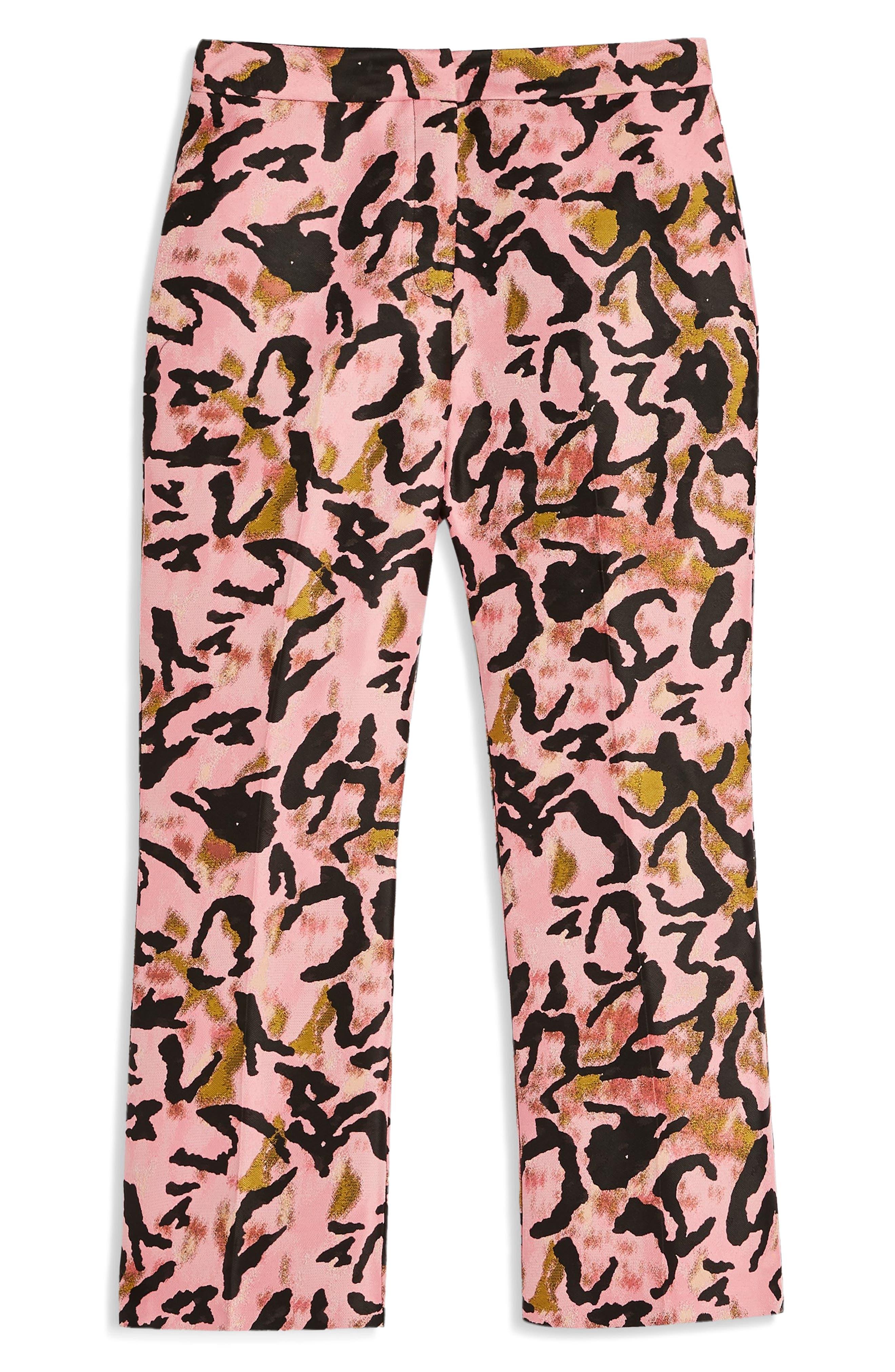 Animal Jacquard Trousers,                             Alternate thumbnail 3, color,                             650