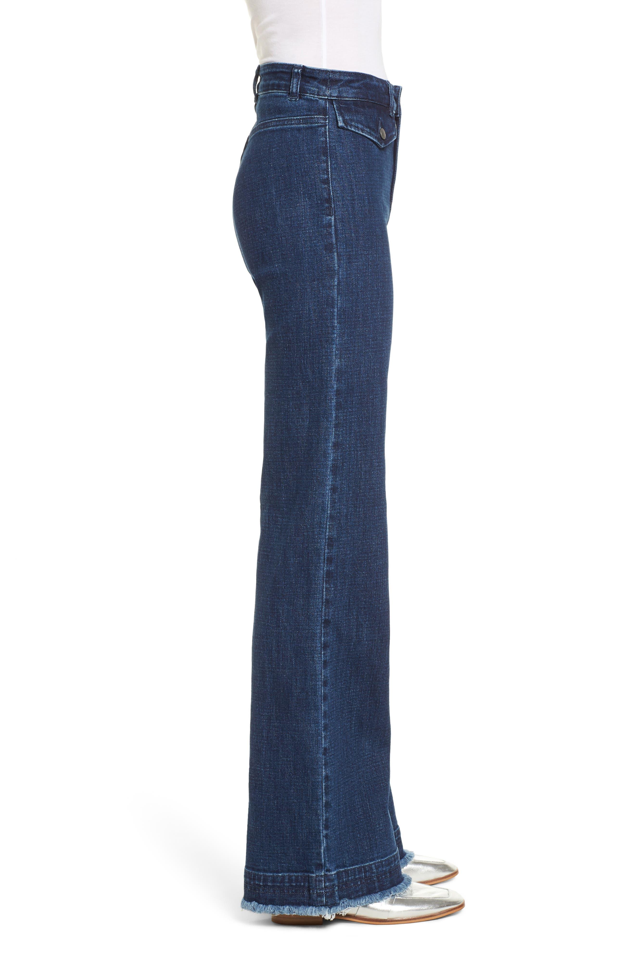 Elwood Wide Leg Jeans,                             Alternate thumbnail 3, color,                             INDIGO