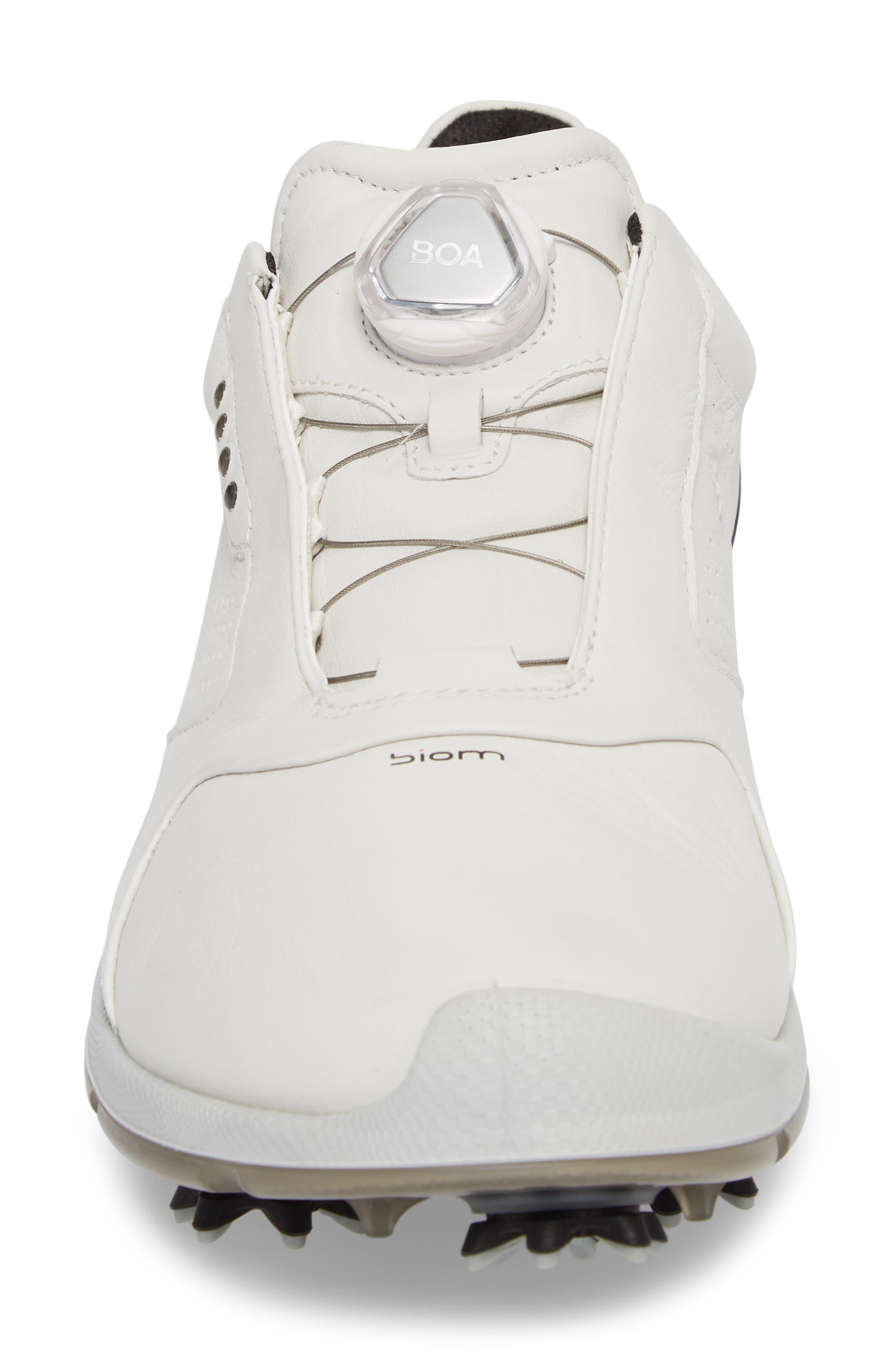 BIOM 2 BOA Gore-Tex<sup>®</sup> Golf Shoe,                             Alternate thumbnail 4, color,                             WHITE/ BLACK LEATHER