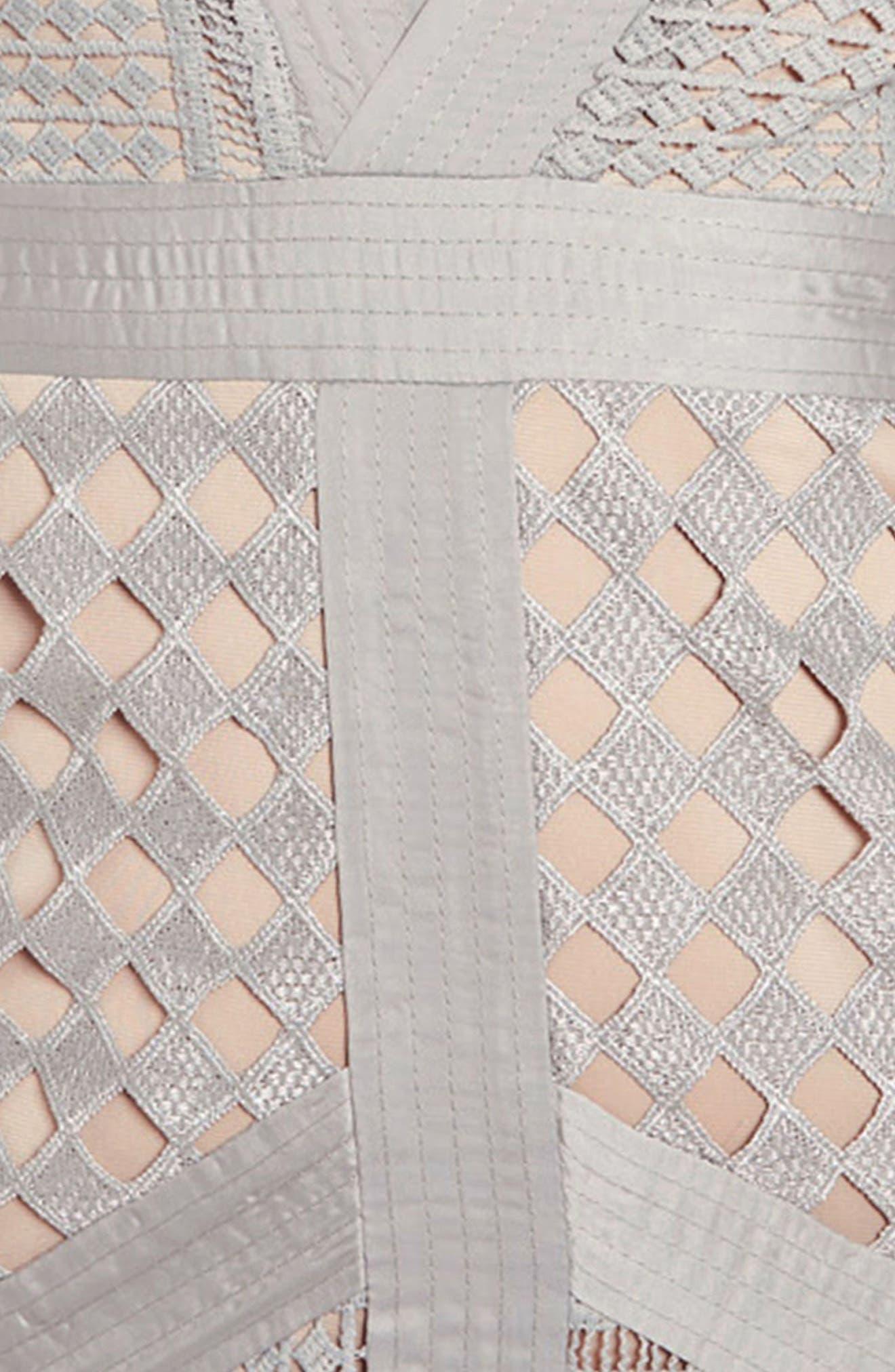Lace Body-Con Dress,                             Alternate thumbnail 3, color,                             060