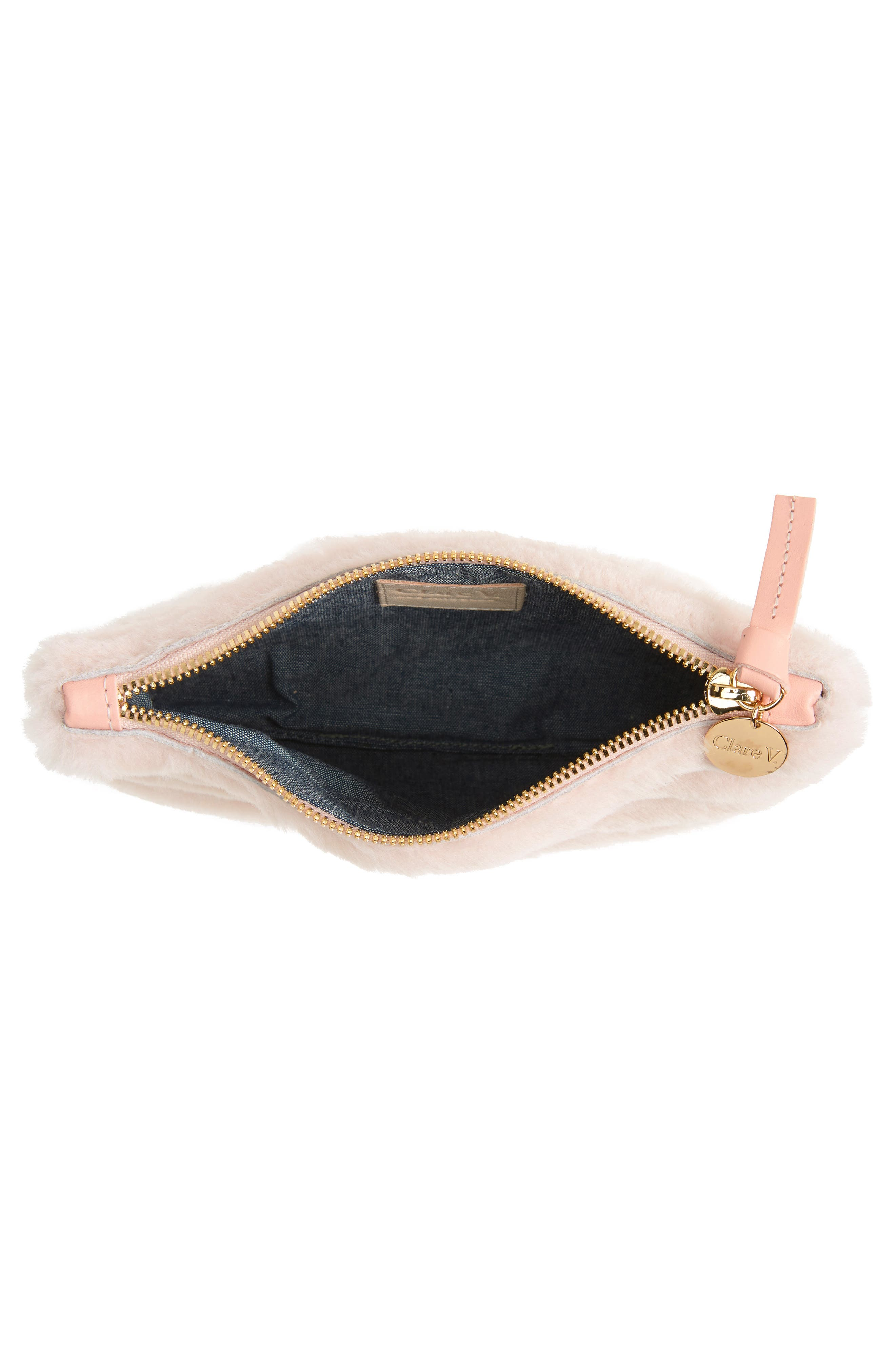 Genuine Shearling Pouch,                             Alternate thumbnail 4, color,