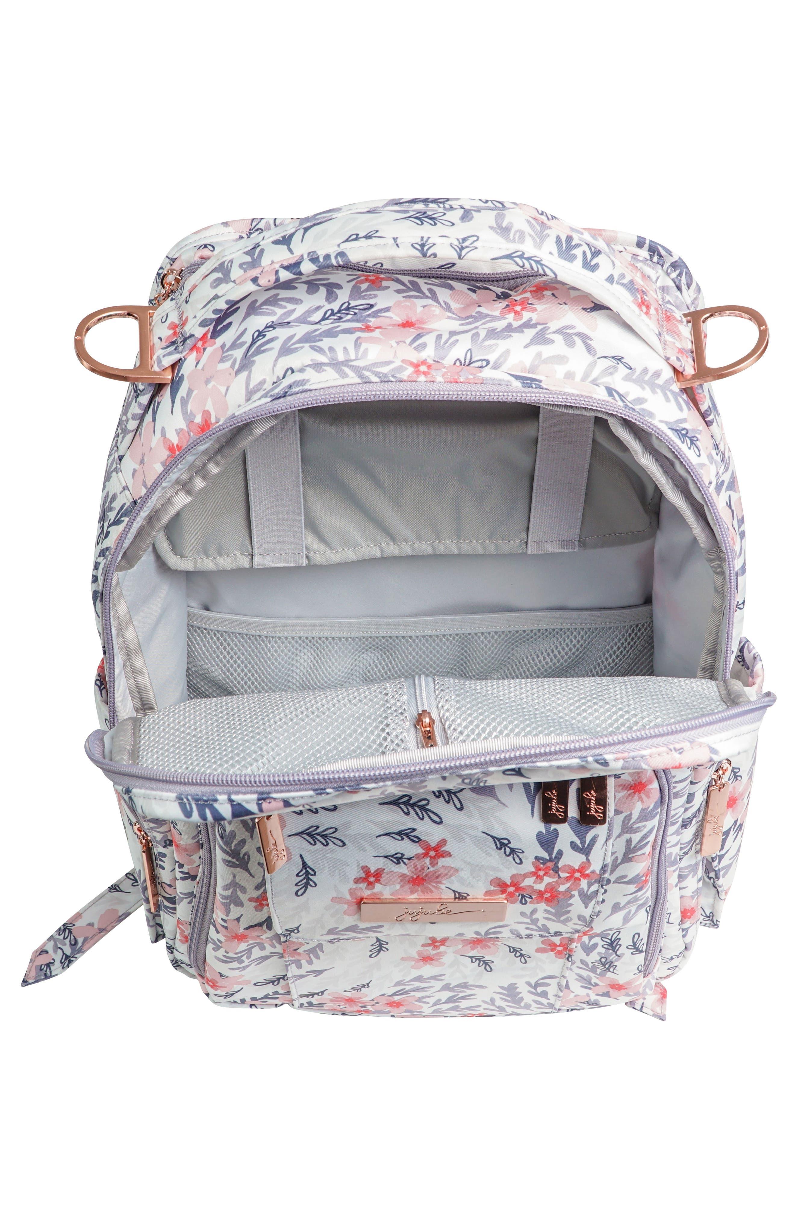 Be Right Back Diaper Backpack,                             Alternate thumbnail 4, color,                             SAKURA SWIRL