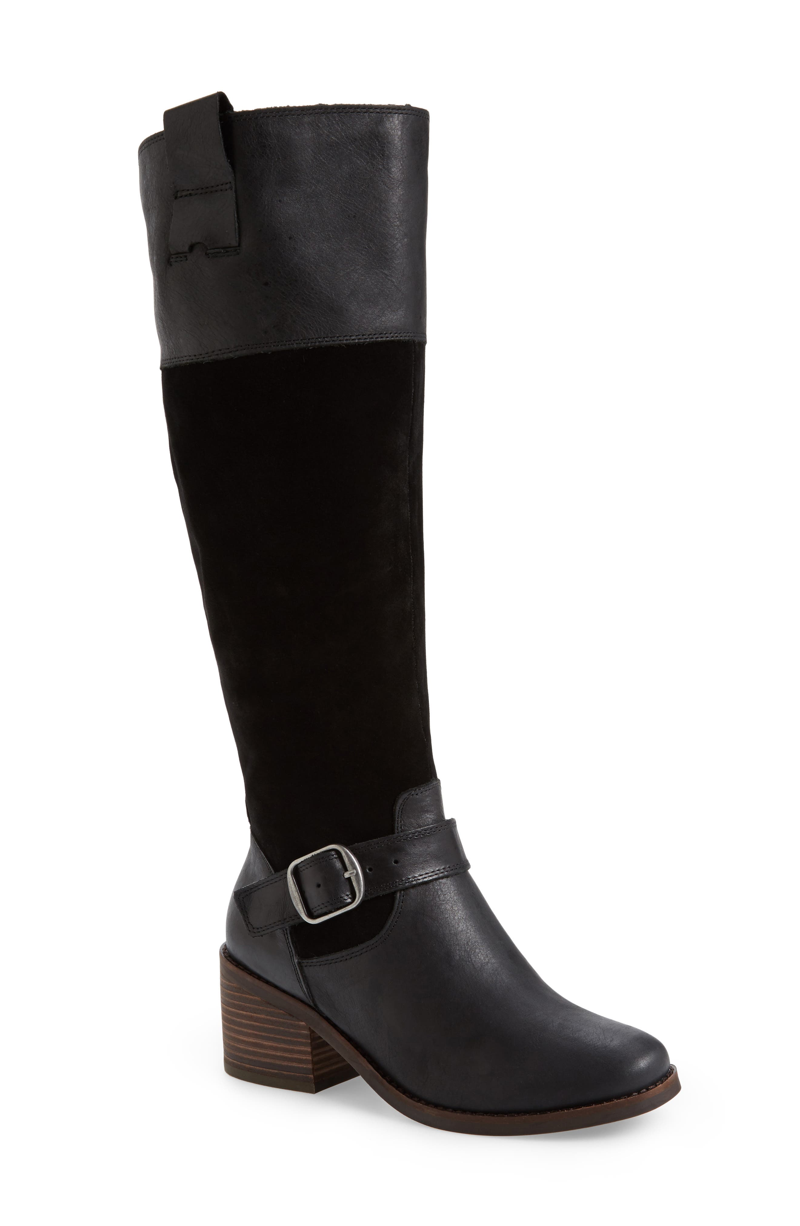 Kailan Ankle Strap Tall Boot,                             Main thumbnail 1, color,