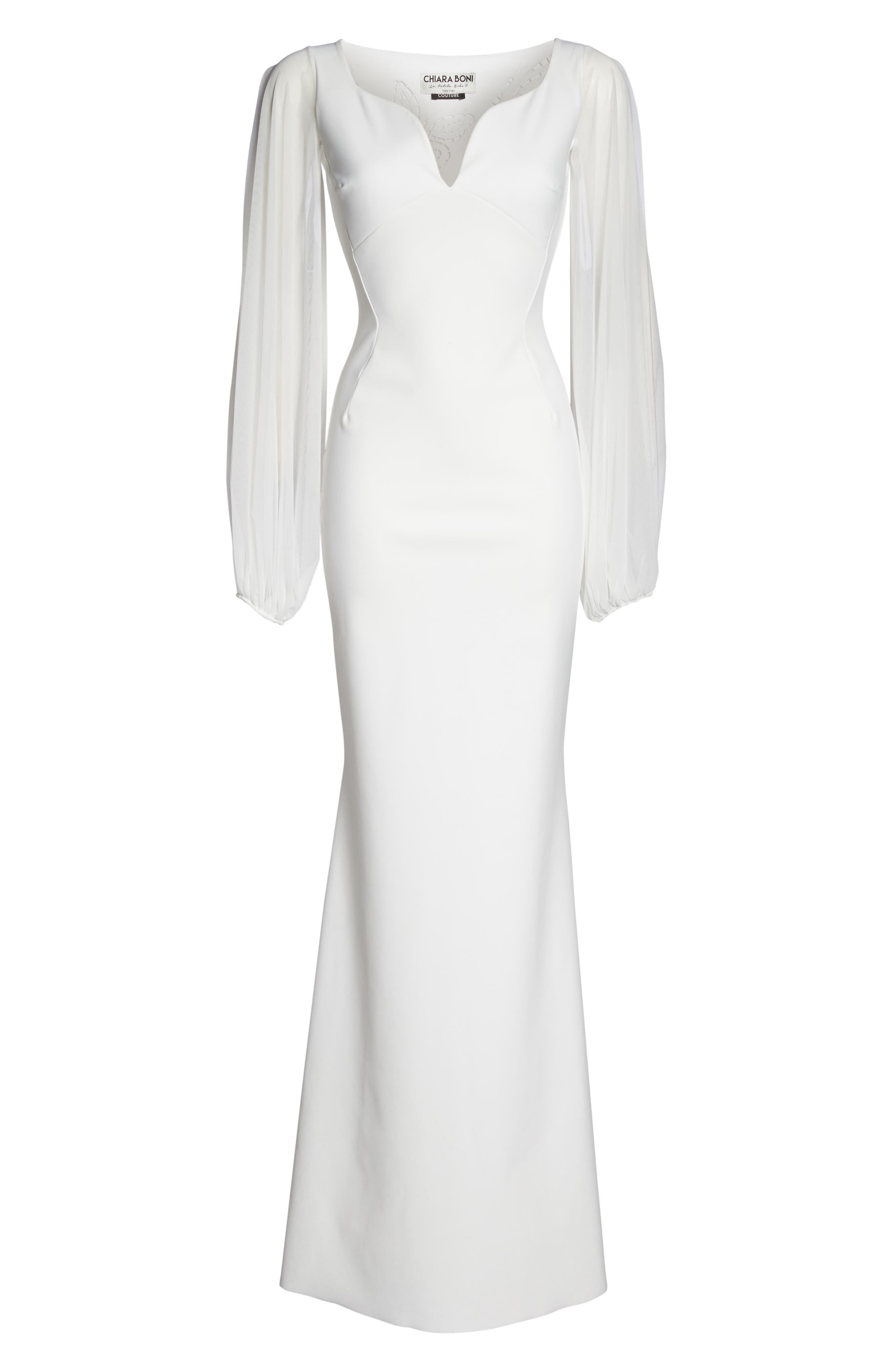 Dress Cutwork Back Gown,                             Alternate thumbnail 6, color,                             100