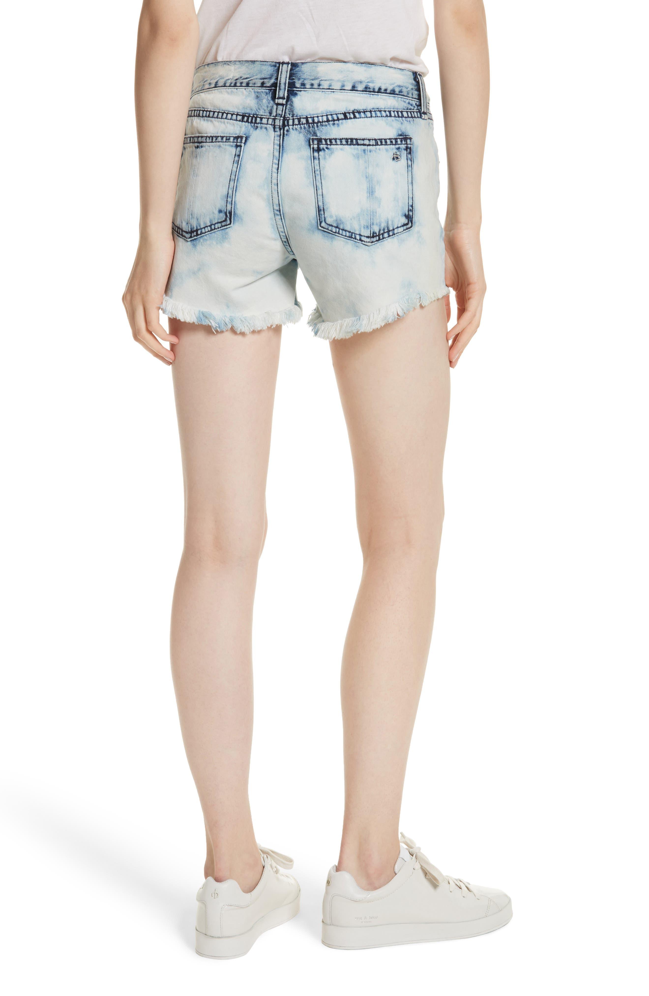 Cutoff Denim Shorts,                             Alternate thumbnail 2, color,                             490