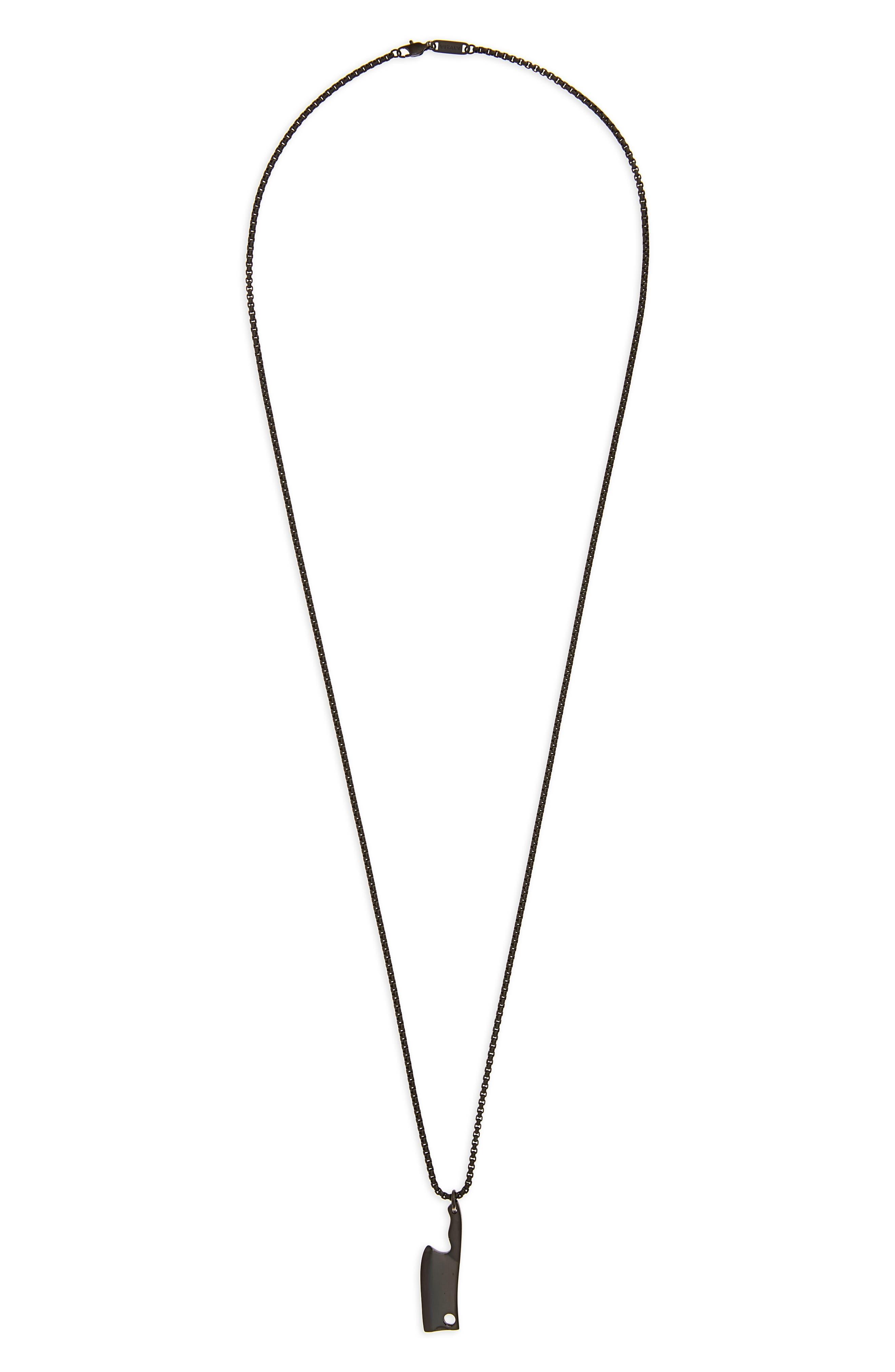 Butcher Pendant Necklace,                         Main,                         color, 001