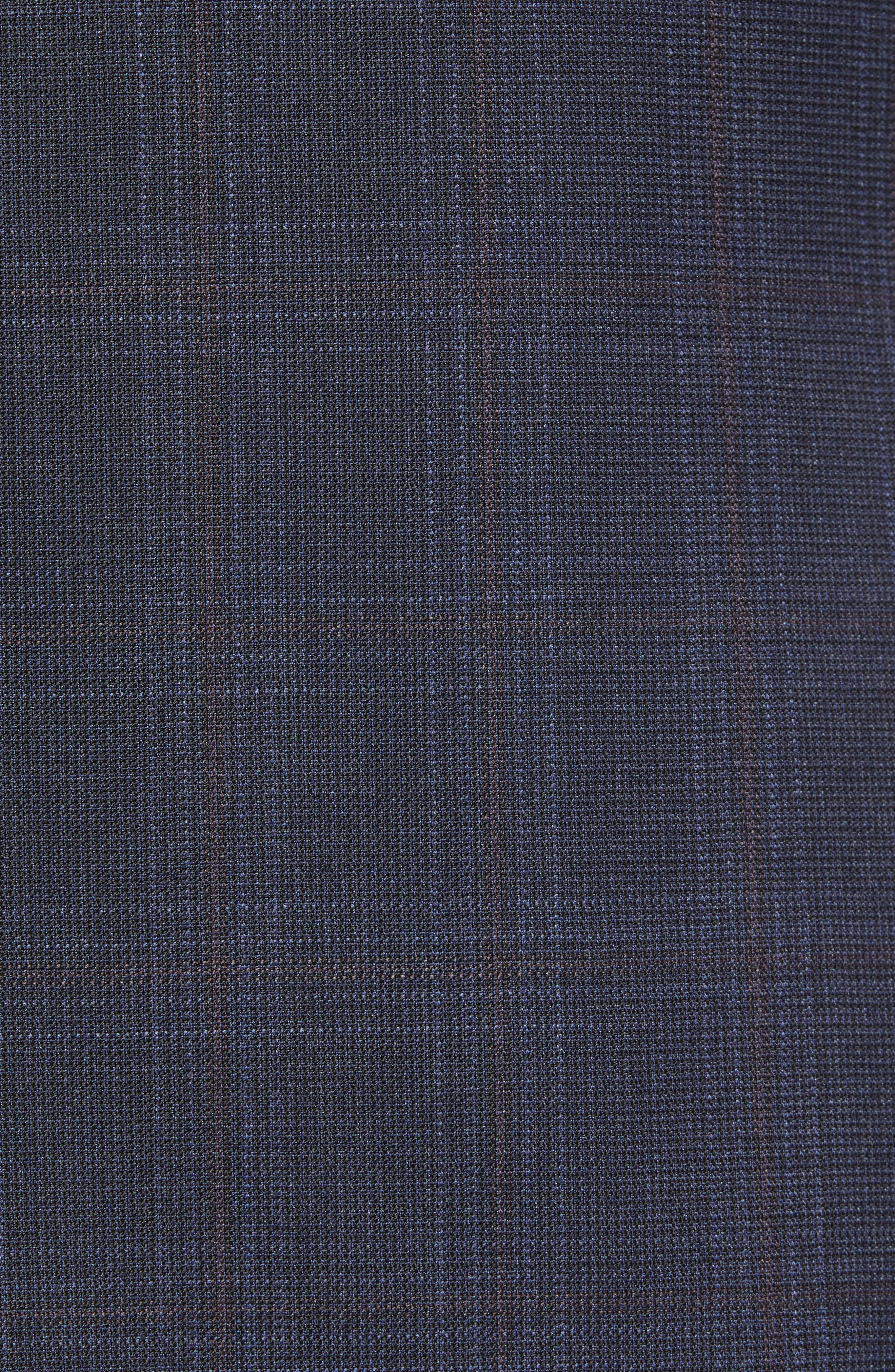 Ryan Classic Fit Plaid Wool Suit,                             Alternate thumbnail 7, color,                             NAVY