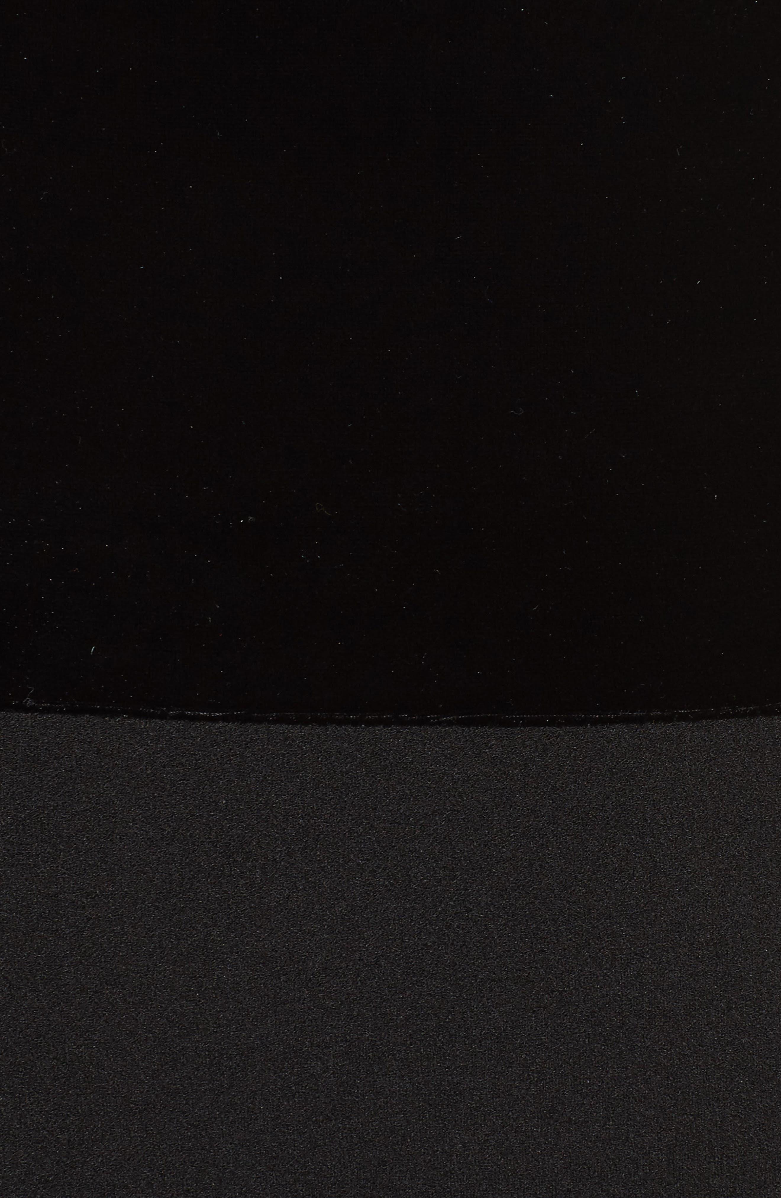 Velvet & Scuba Crepe Mermaid Gown,                             Alternate thumbnail 6, color,                             BLACK