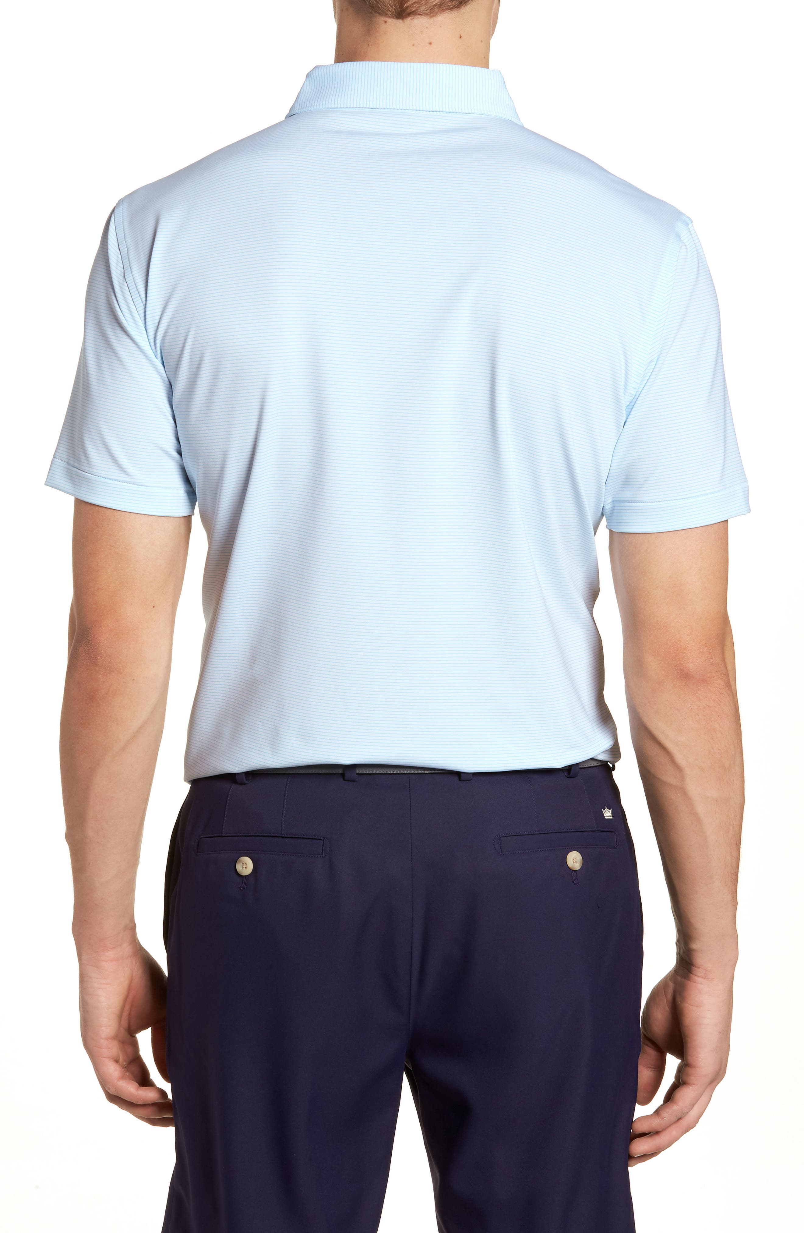 Halford Stripe Stretch Jersey Polo,                             Alternate thumbnail 2, color,                             100