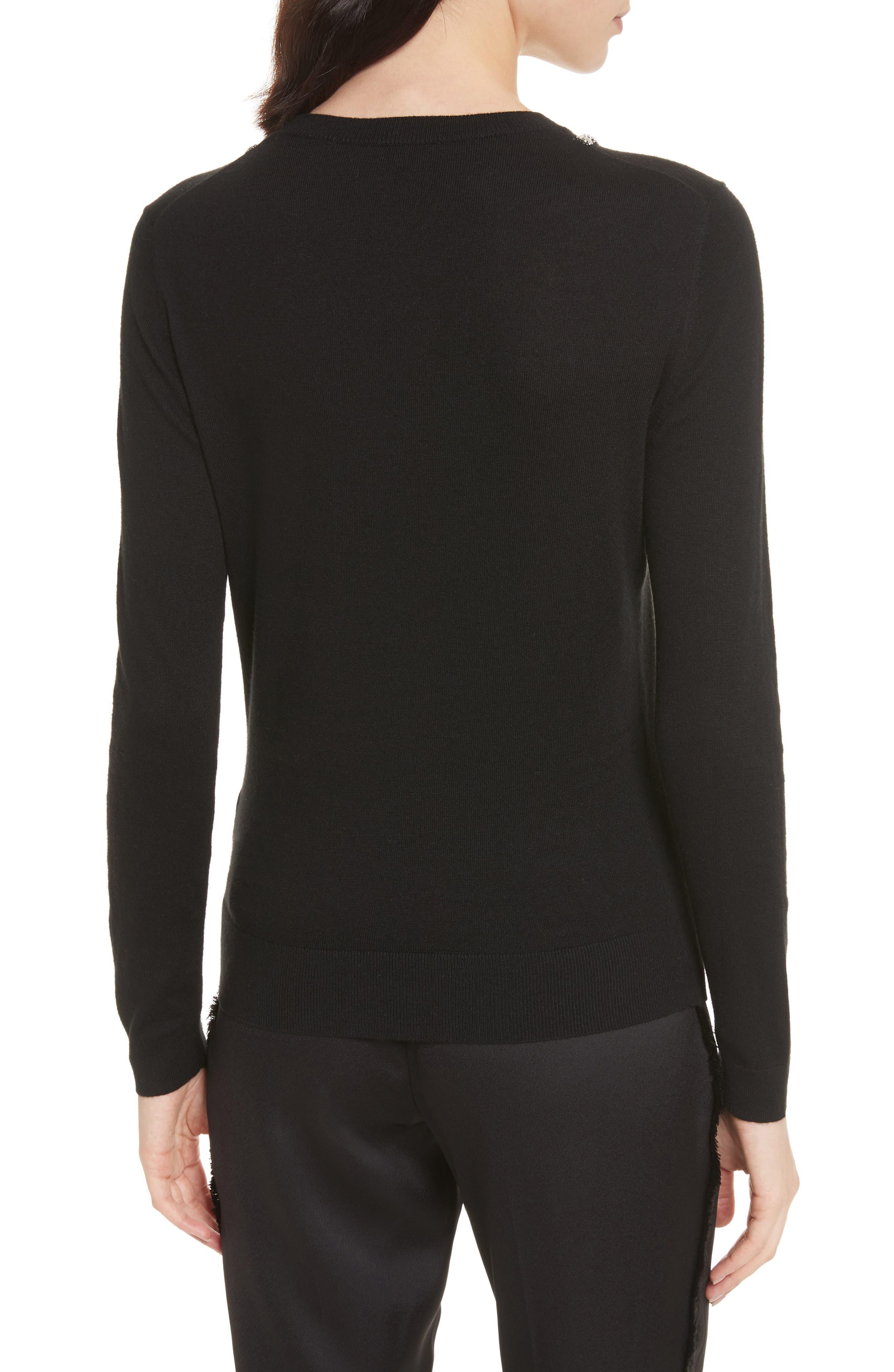 Sparkle Bow Sweater,                             Alternate thumbnail 2, color,                             001