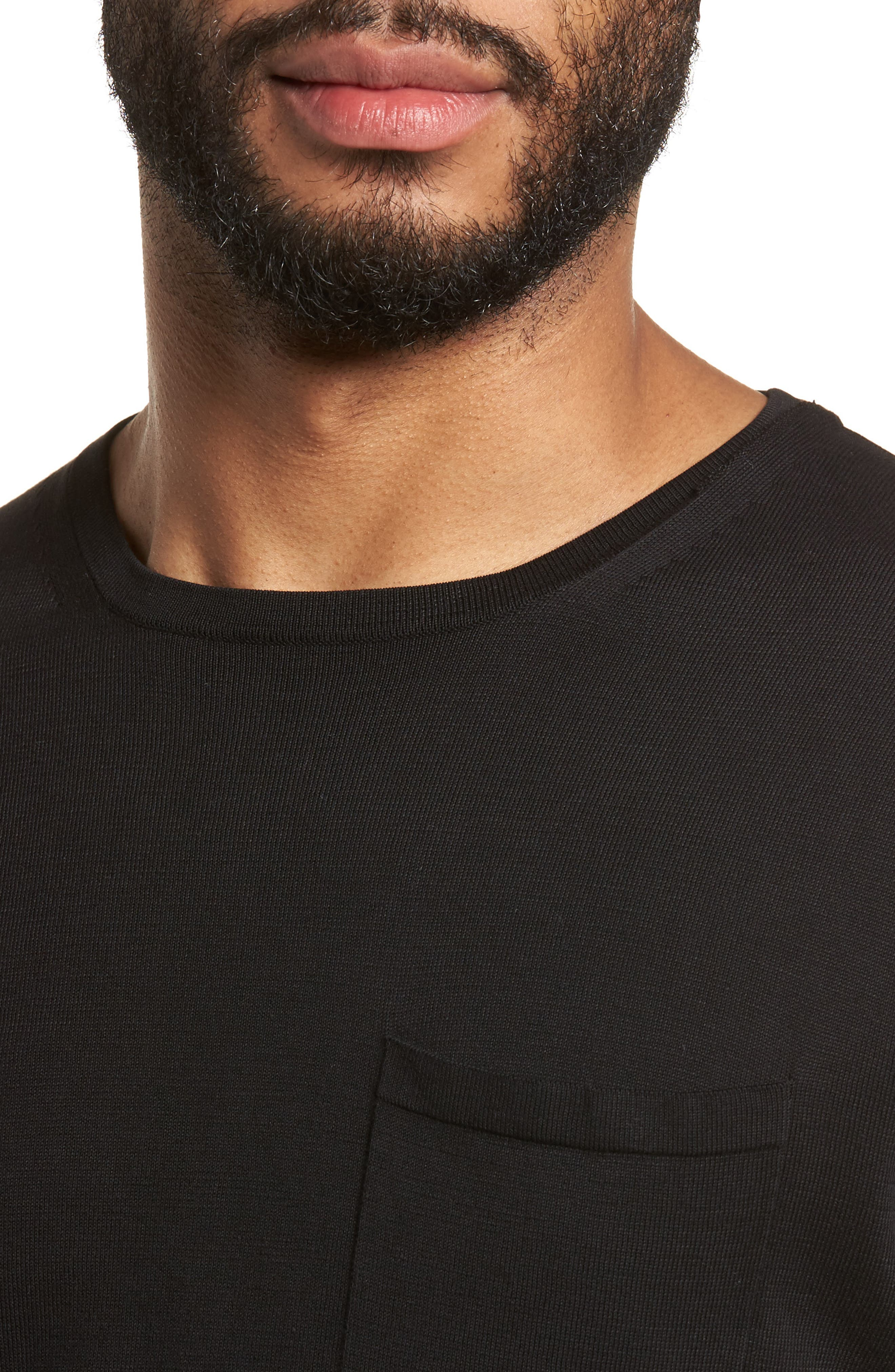 Long Sleeve Pocket T-Shirt,                             Alternate thumbnail 4, color,                             001