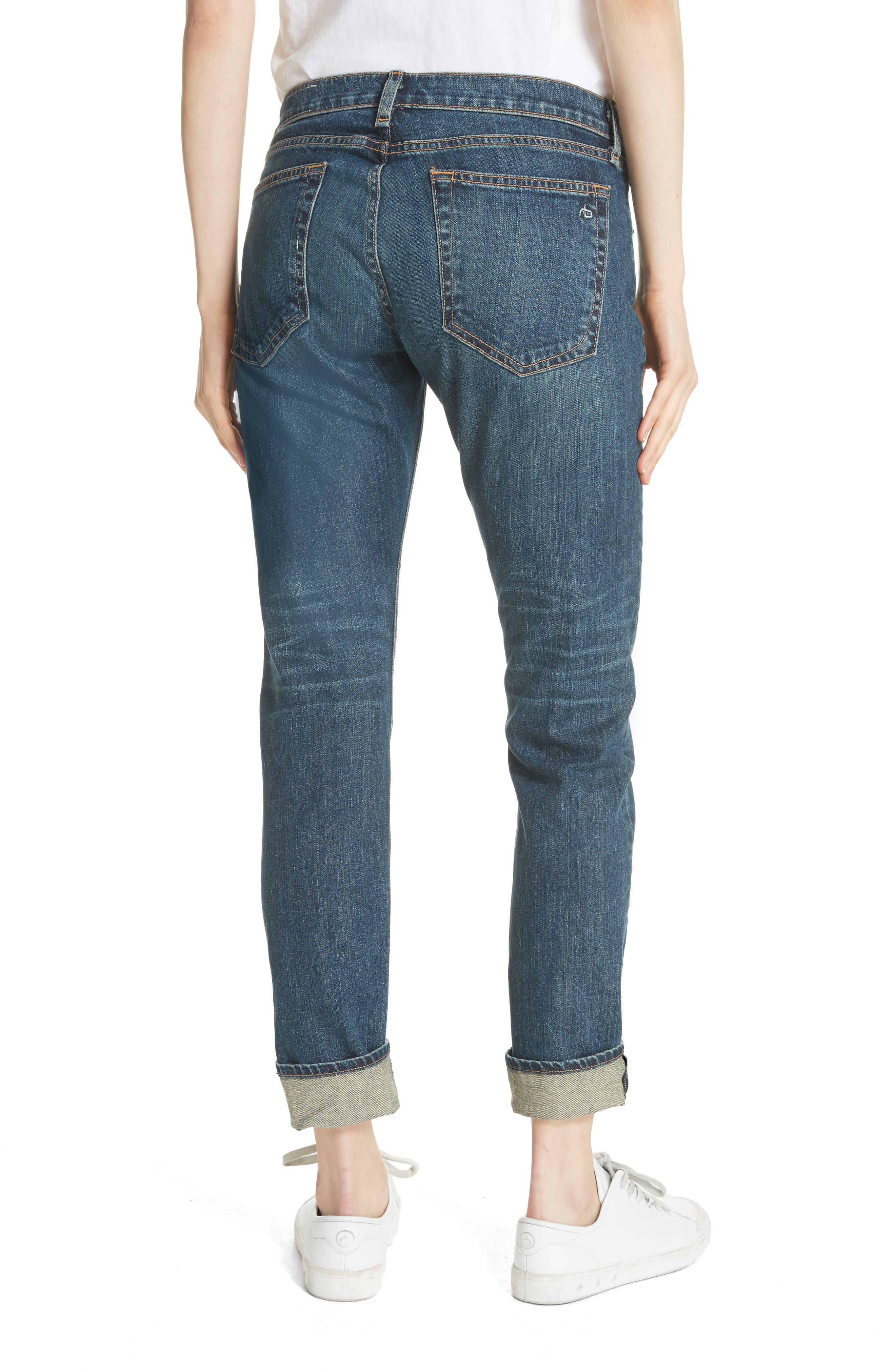 The Dre Slim Boyfriend Jeans,                             Alternate thumbnail 2, color,