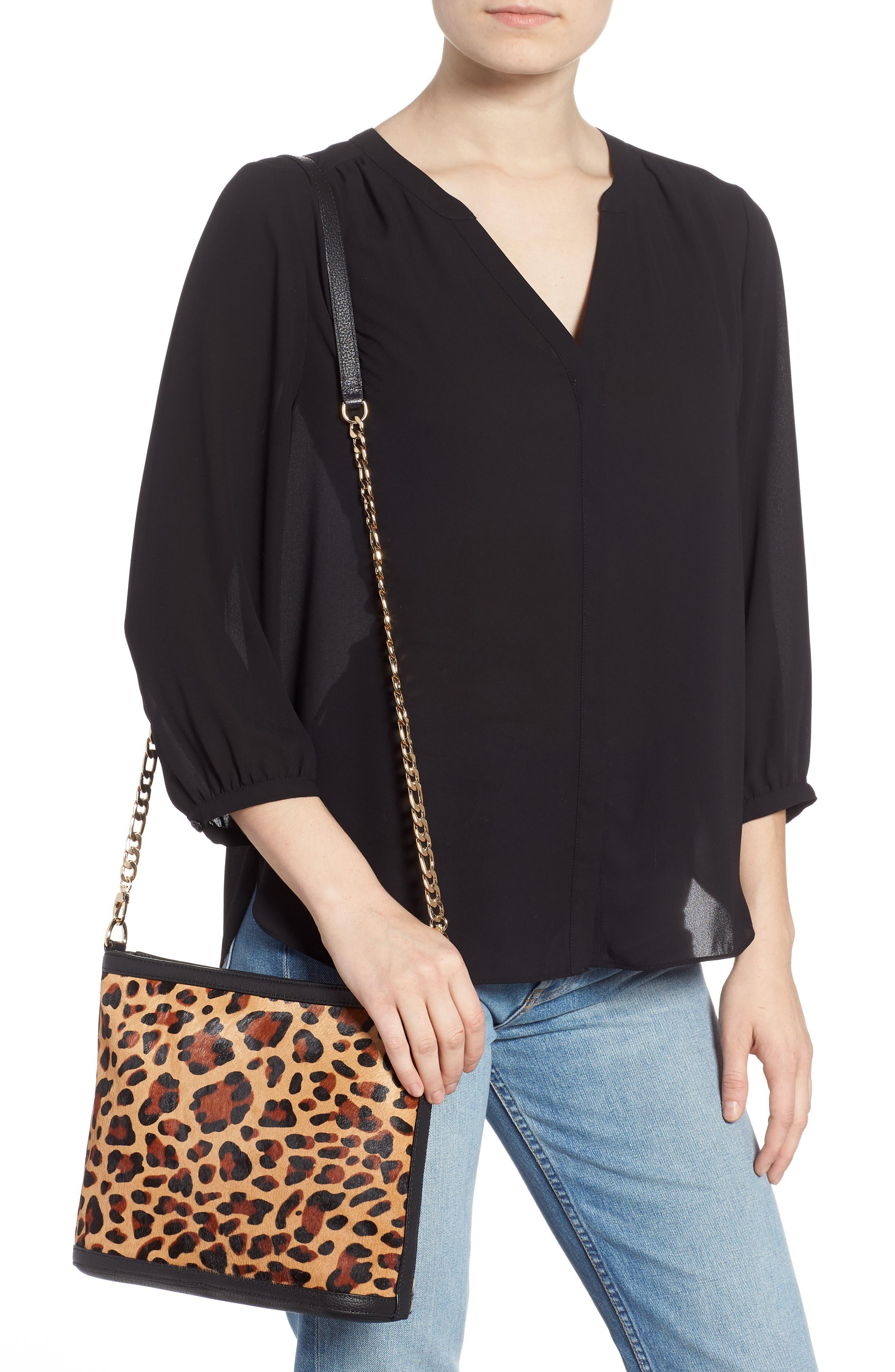 Maribel Genuine Calf Hair Crossbody Bag,                             Alternate thumbnail 2, color,                             NATURAL LEOPARD