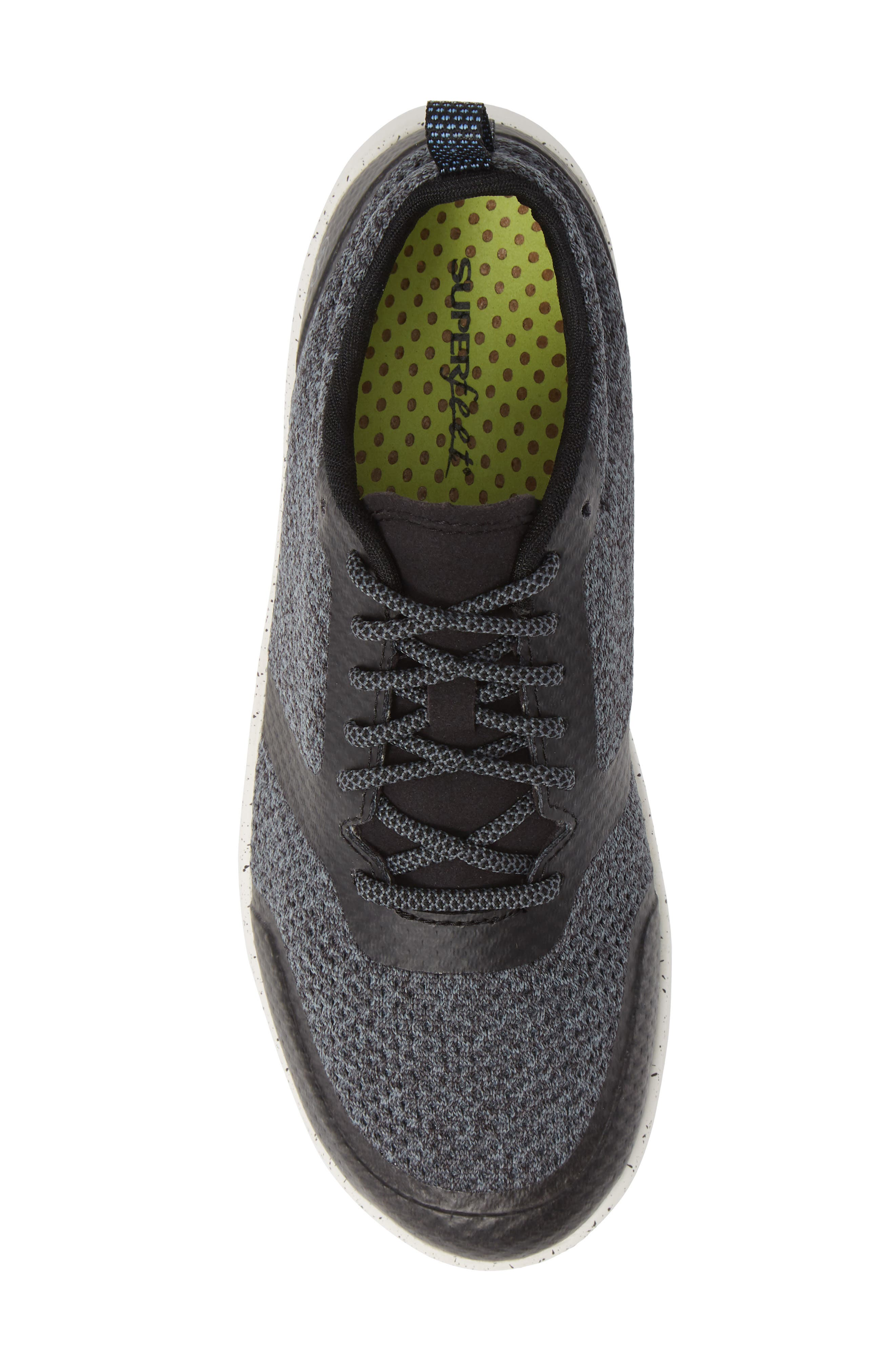 Linden Sneaker,                             Alternate thumbnail 5, color,                             BLACK FABRIC
