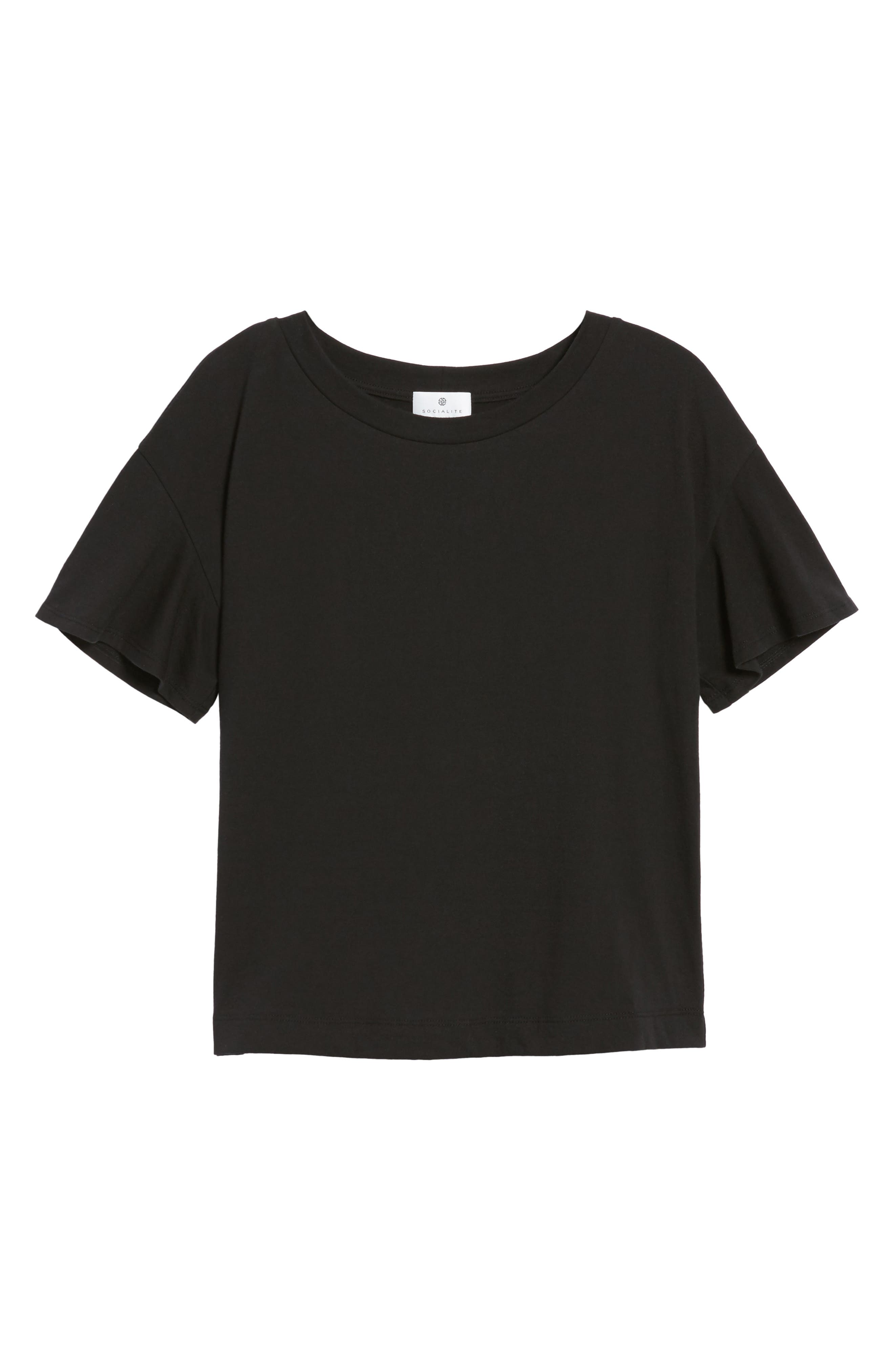 Flutter Sleeve Tee,                             Alternate thumbnail 16, color,