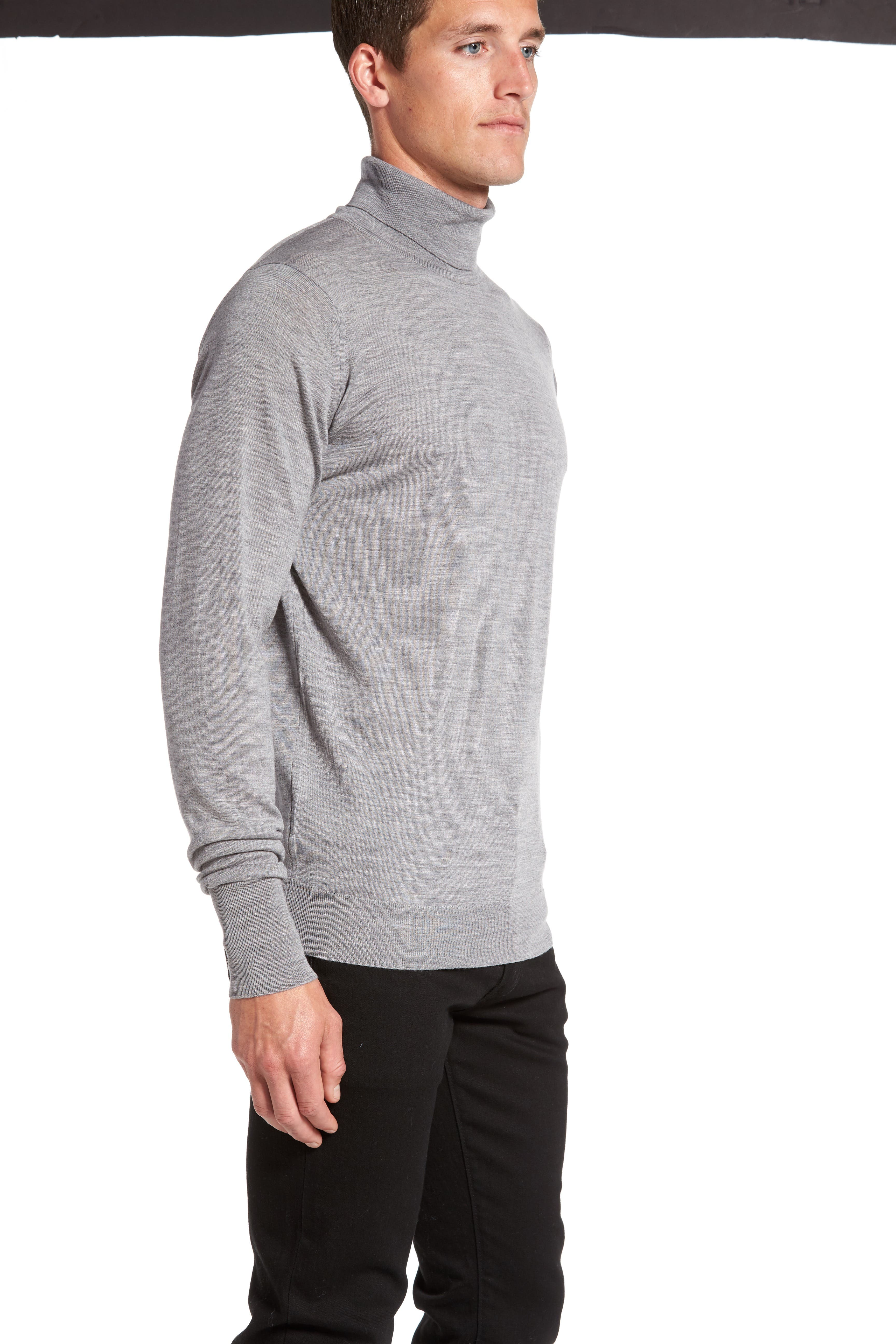 'Richards' Easy Fit Turtleneck Wool Sweater,                             Alternate thumbnail 38, color,