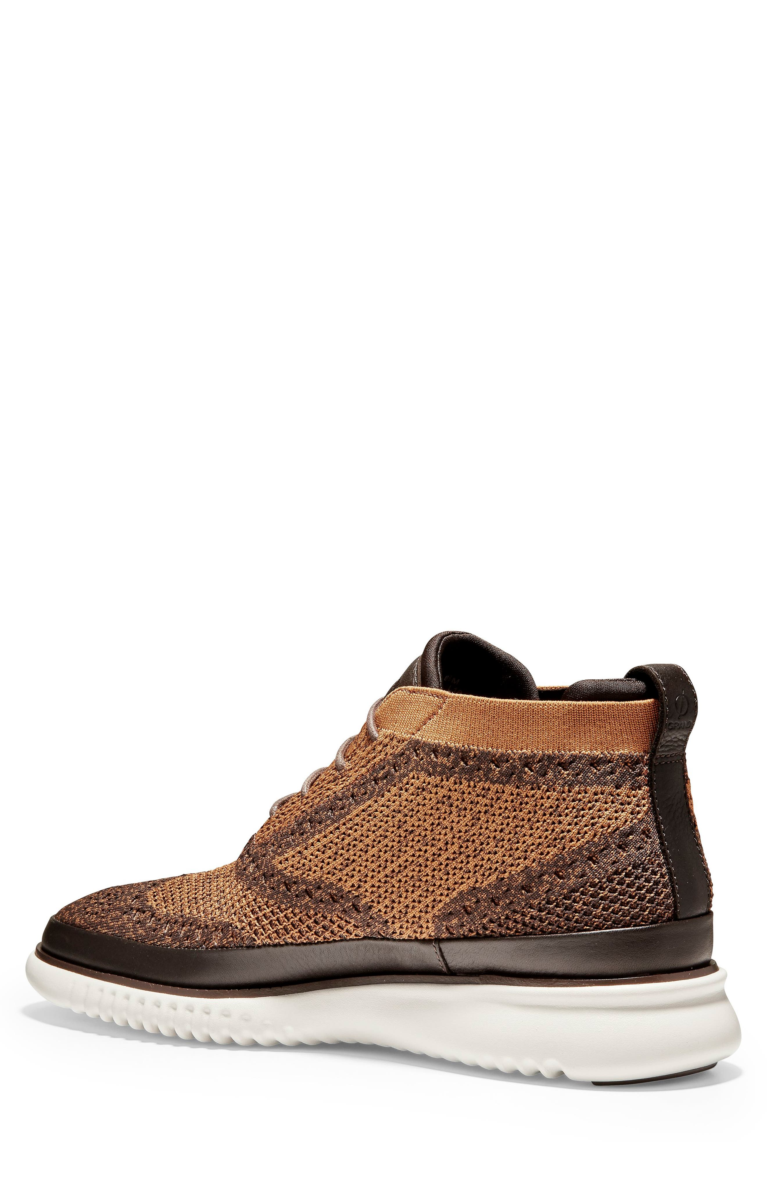 2.ZeroGrand Stitchlite Water Resistant Chukka Boot,                             Alternate thumbnail 2, color,                             BROWN HEATHERED KNIT