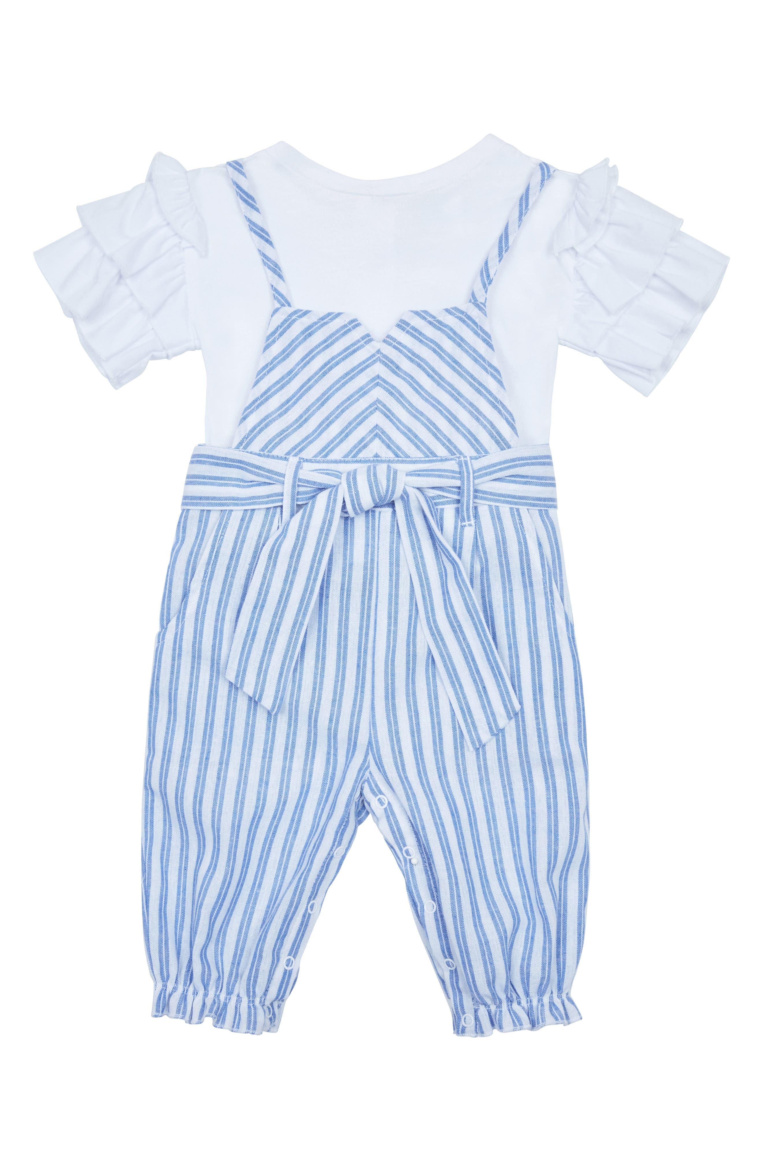Toddler Girls Habitual Girl Genesis Stripe Overall Set