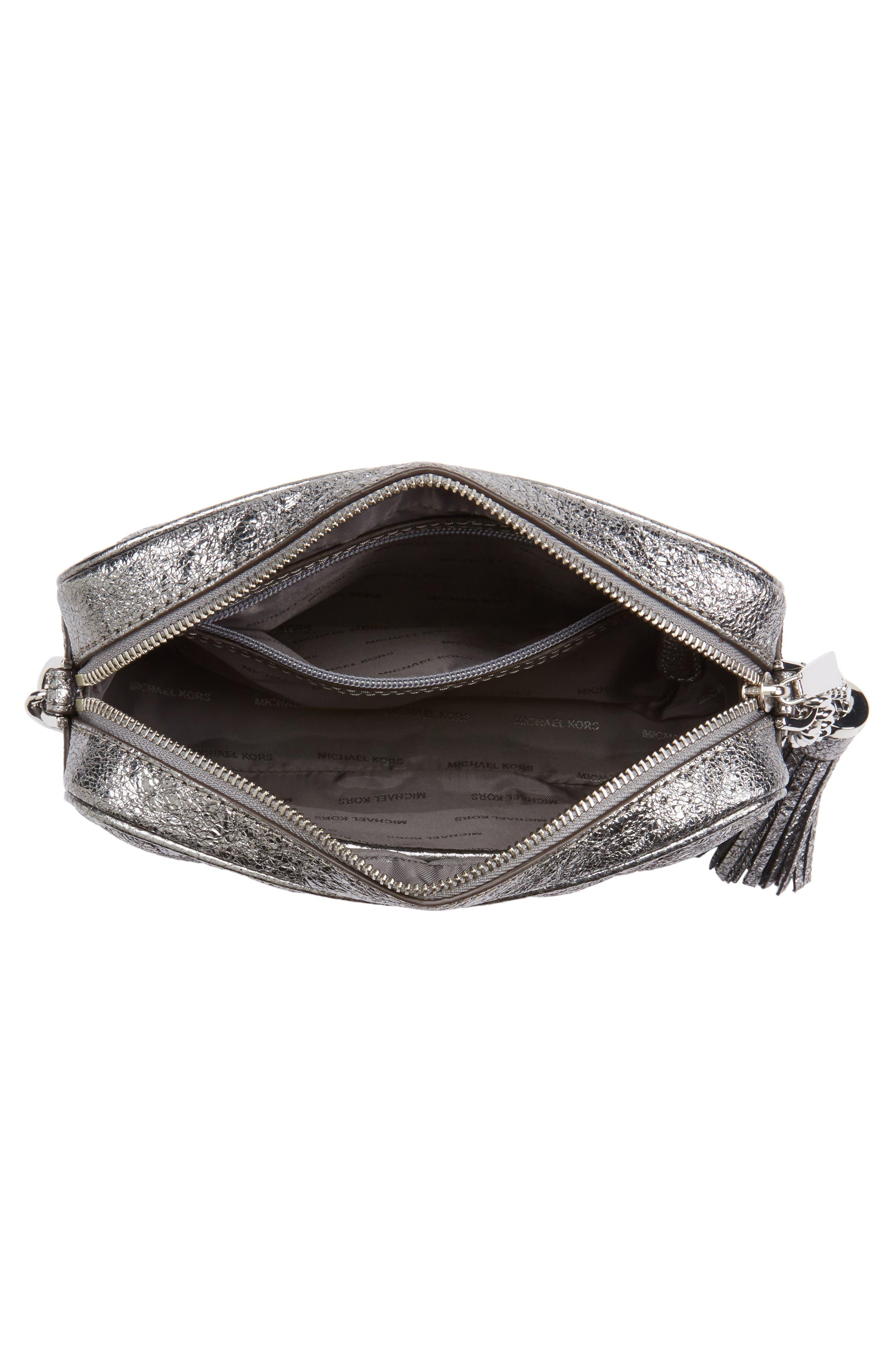 Medium Ginny Leather Camera Bag,                             Alternate thumbnail 4, color,                             074