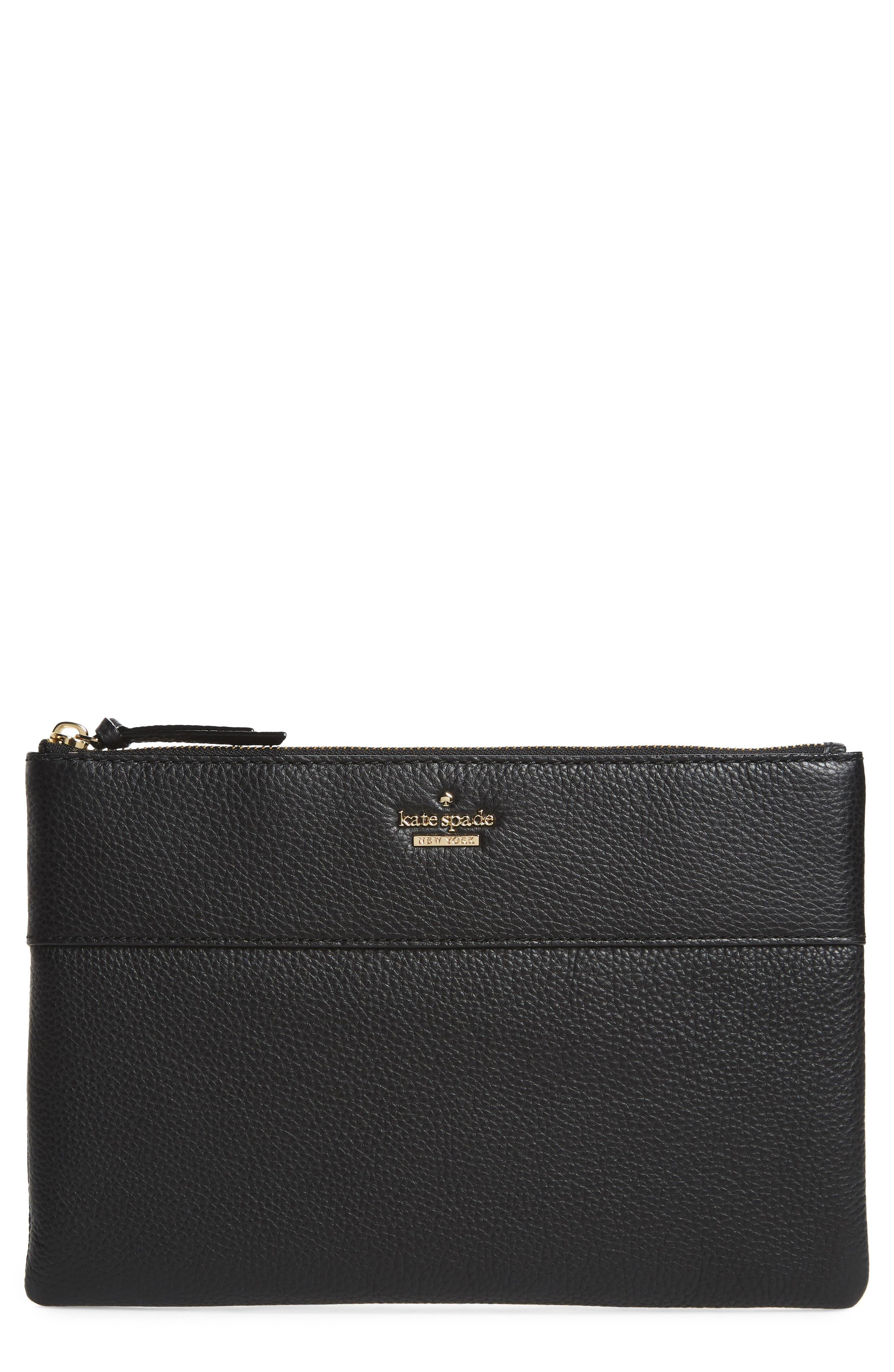 jackson street large mila leather pouch,                         Main,                         color, 001