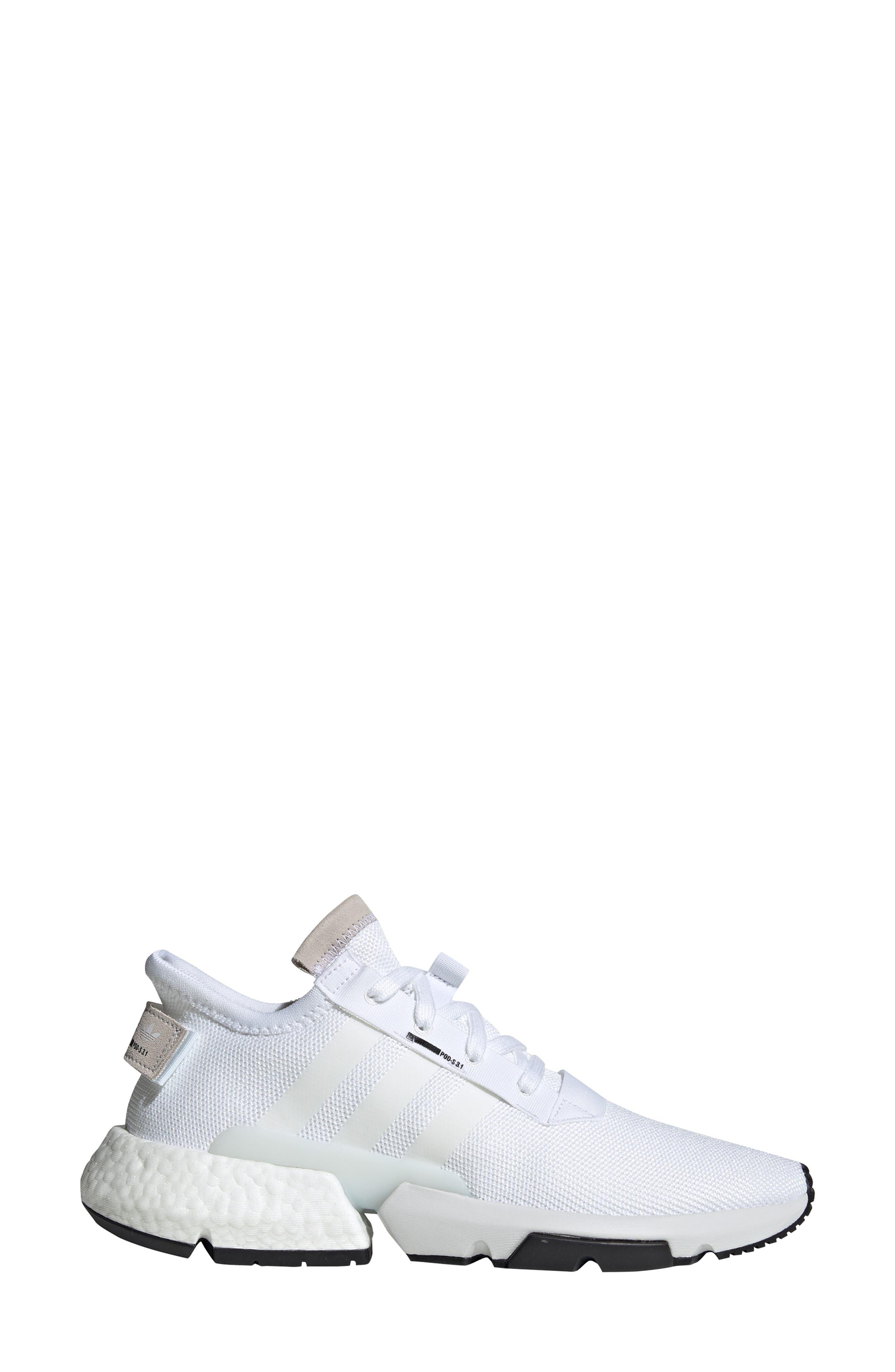 Pod S3.1 Sneaker,                             Alternate thumbnail 3, color,                             WHITE/ BLACK