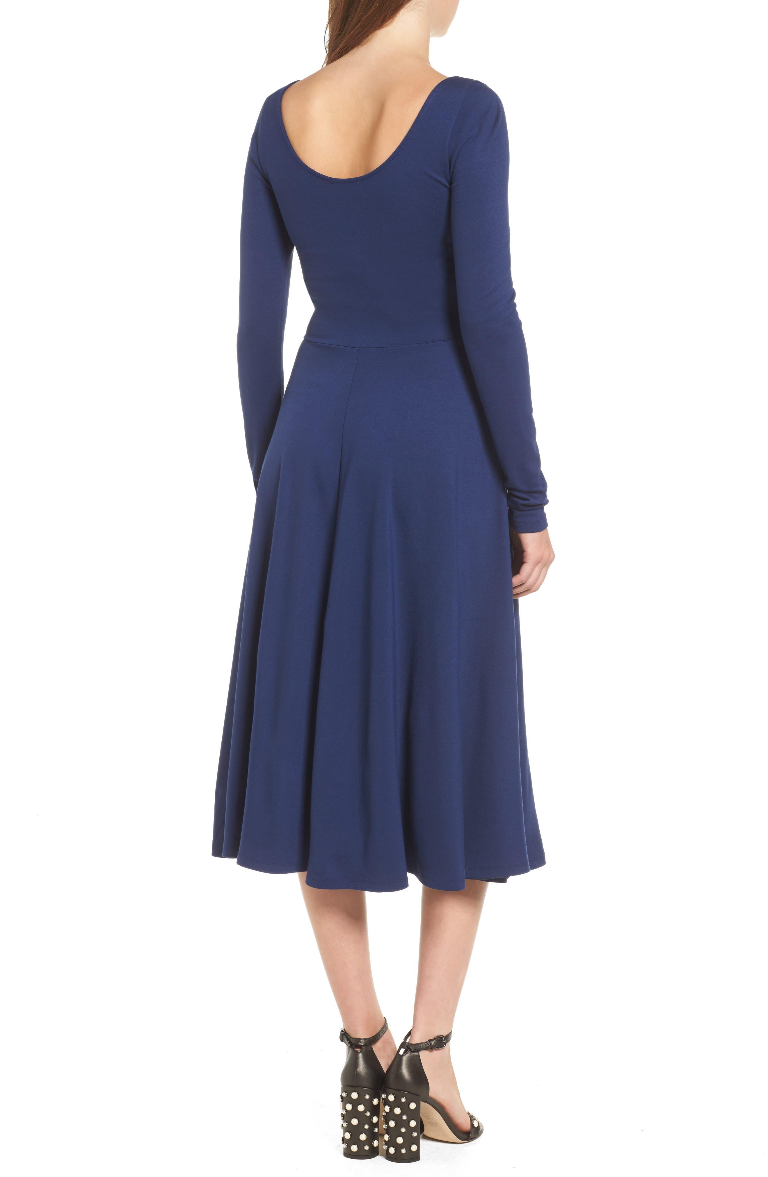 Long Sleeve Midi Dress,                             Alternate thumbnail 4, color,