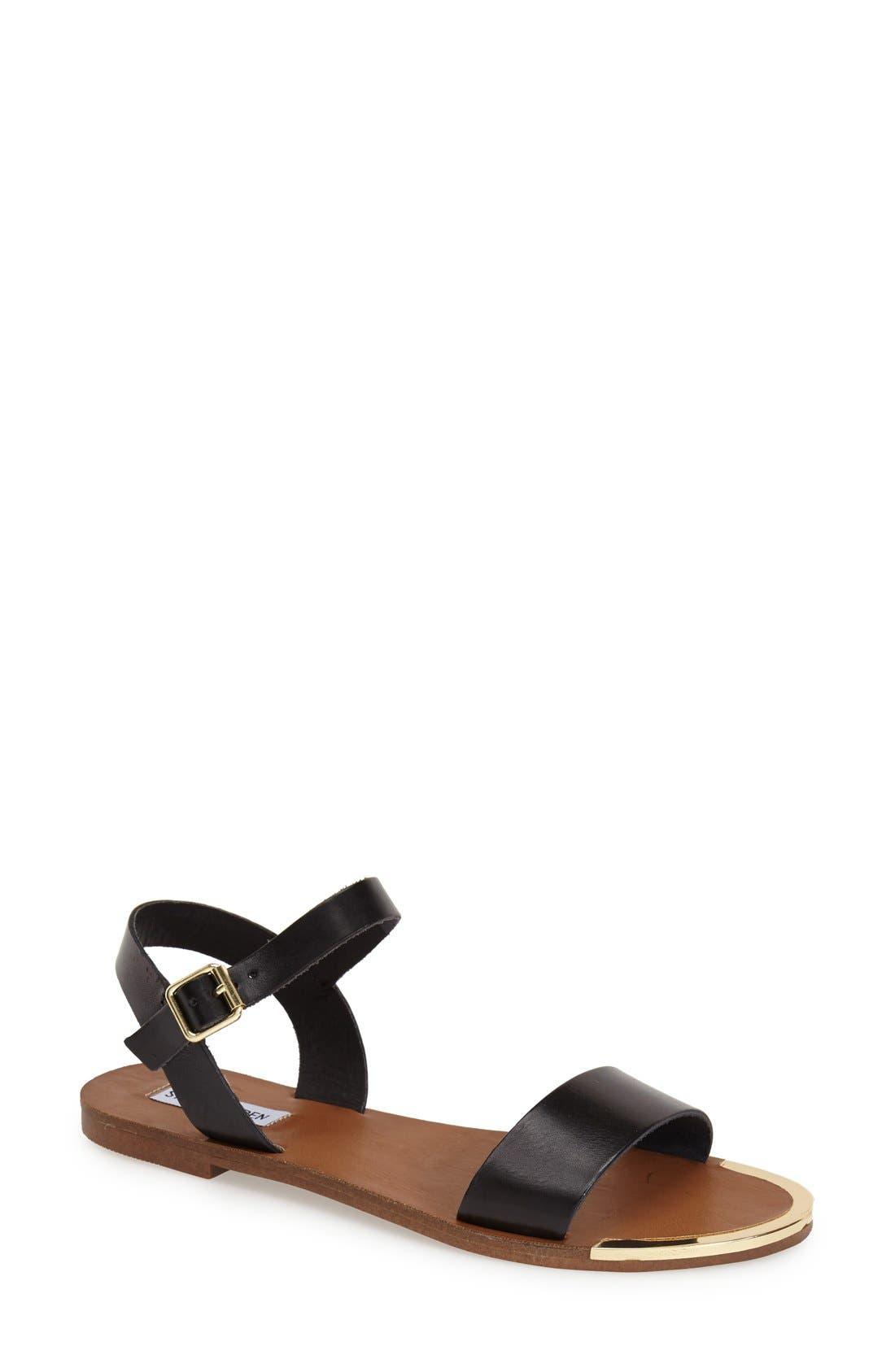 STEVE MADDEN 'Rillie' Two Strap Sandal, Main, color, 001
