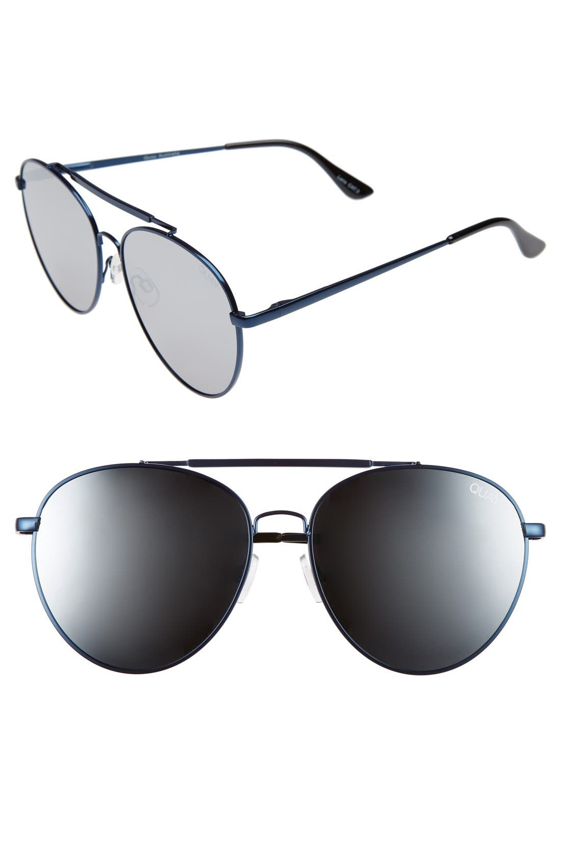 Lickety Split 58mm Aviator Sunglasses,                         Main,                         color, 040