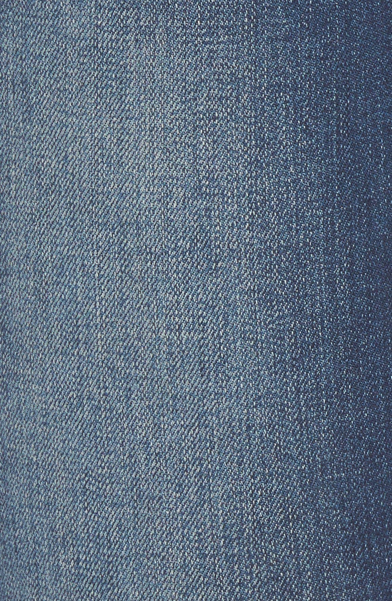Piper Foil Crop Skinny Jeans,                             Alternate thumbnail 5, color,                             400