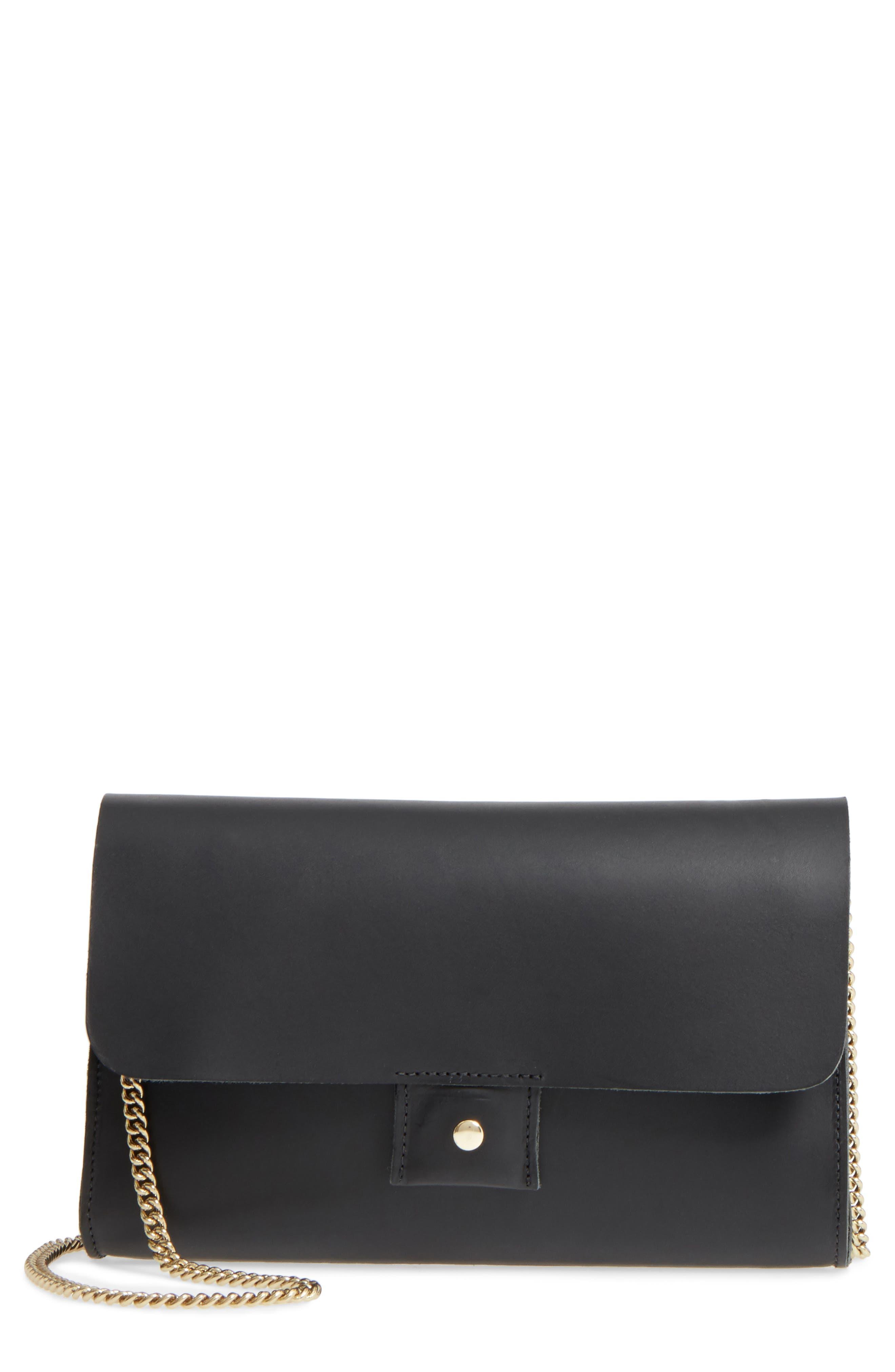 Colette Maison Leather Shoulder Bag,                             Main thumbnail 1, color,                             001