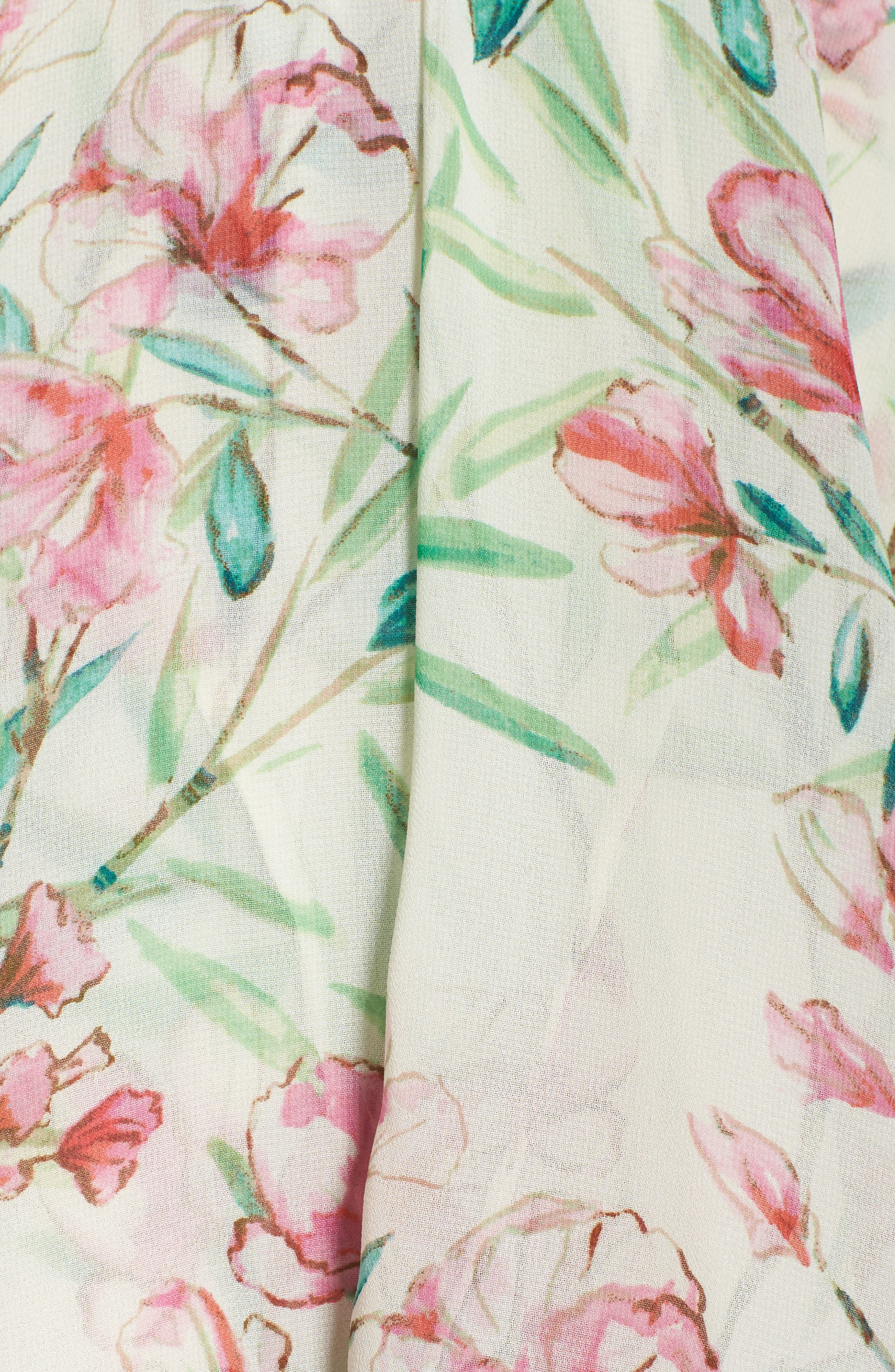 Chiffon Fit & Flare Dress,                             Alternate thumbnail 6, color,