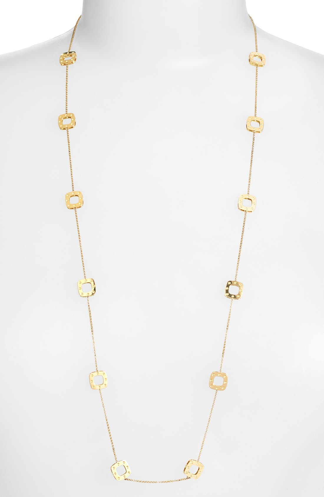 'Pois Moi' Long Station Necklace,                             Main thumbnail 1, color,                             YELLOW GOLD