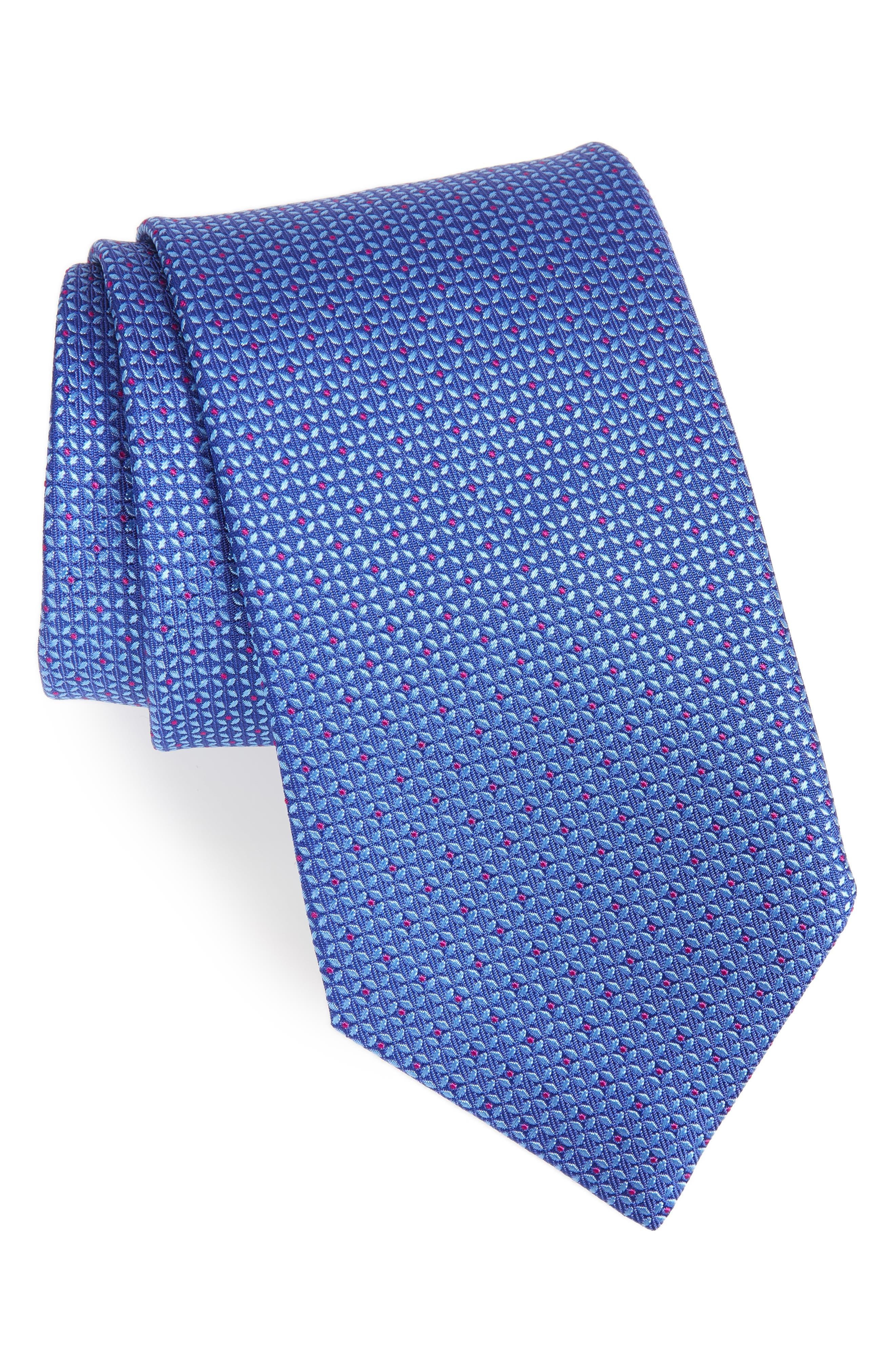 Solid Silk Tie,                         Main,                         color, 423