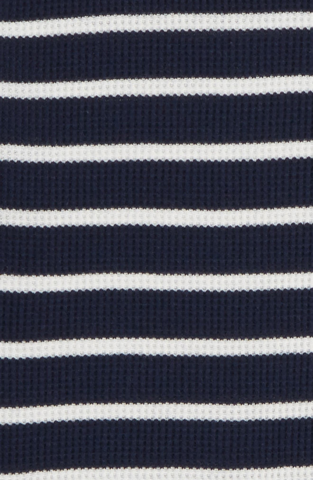 Stripe Fitted Two-Piece Pajamas,                             Alternate thumbnail 2, color,                             NAVY IVORY