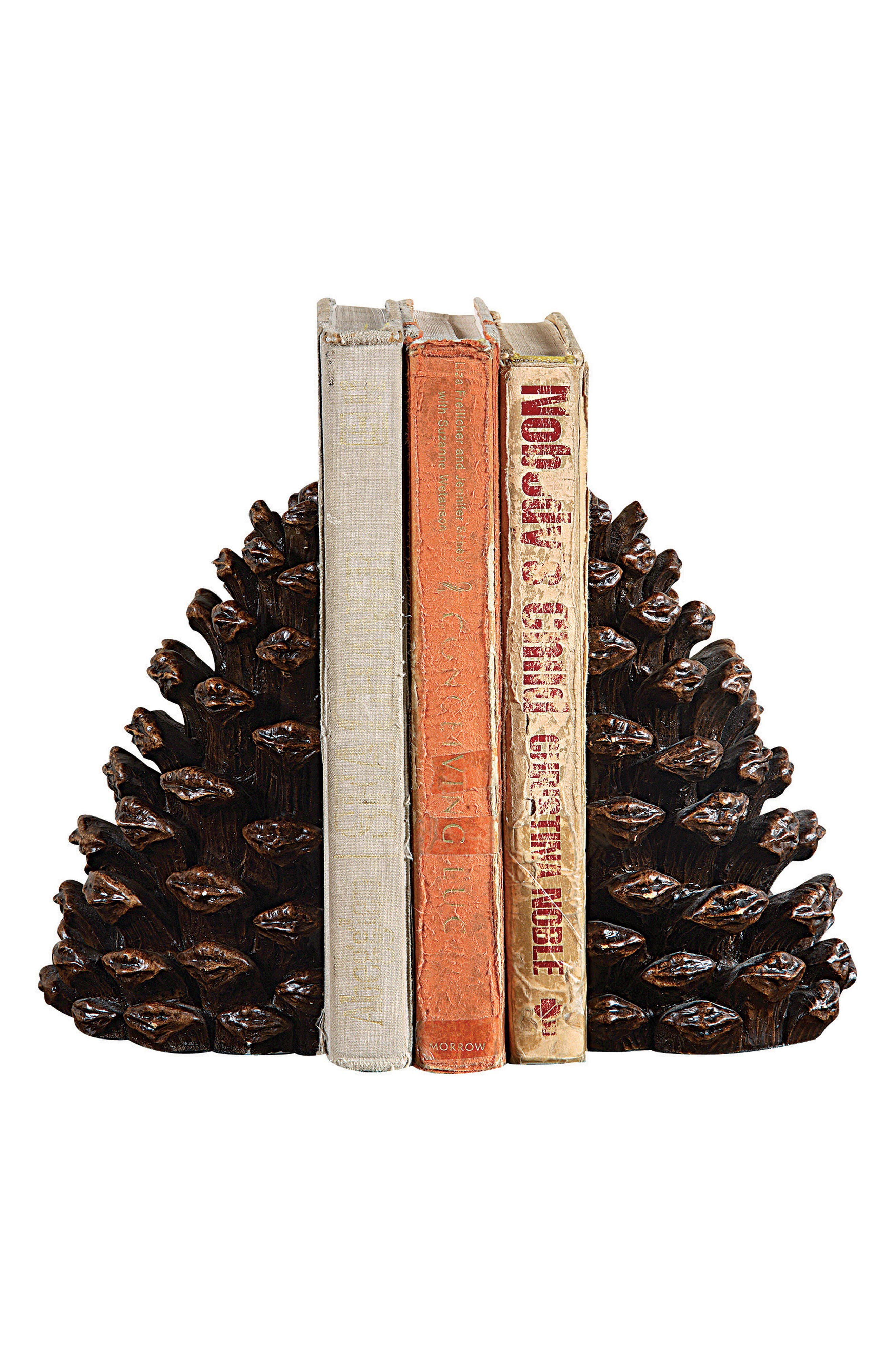 Pinecone Resin Bookends,                             Alternate thumbnail 2, color,                             200
