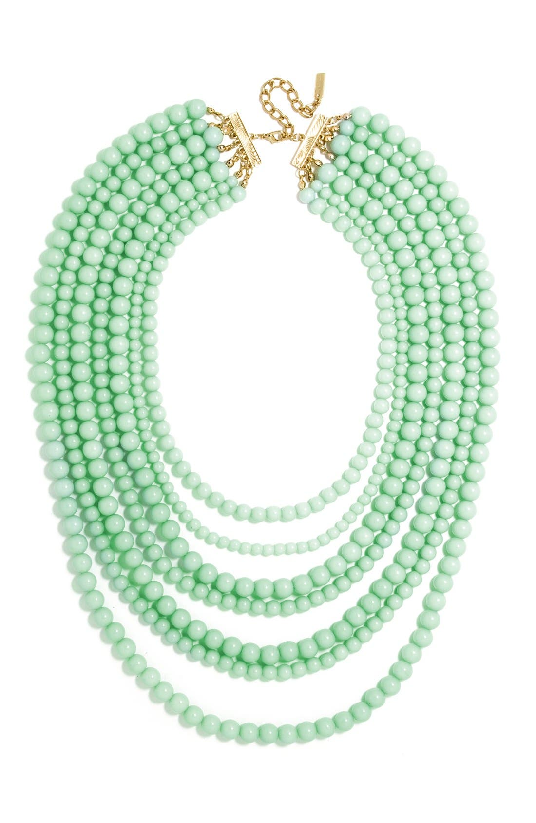 'Bold' Multistrand Beaded Statement Necklace,                             Main thumbnail 4, color,