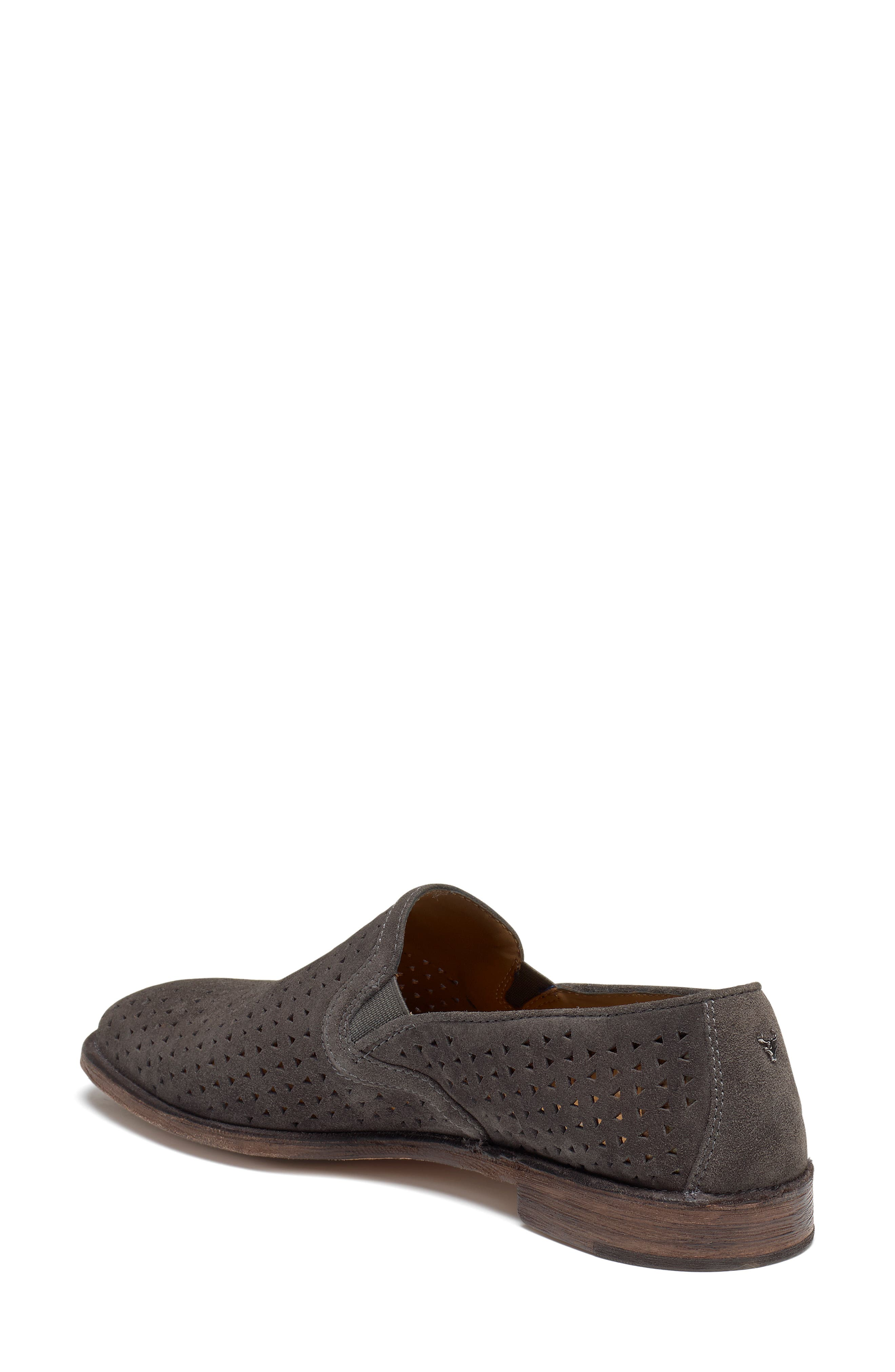 Ali Perforated Loafer,                             Alternate thumbnail 2, color,                             GREY SUEDE