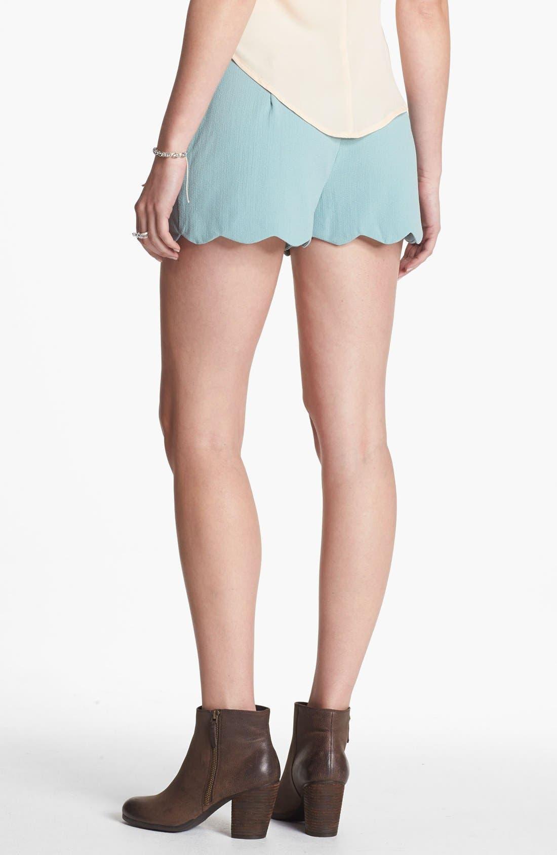 Scalloped Lace Shorts,                             Alternate thumbnail 3, color,                             400