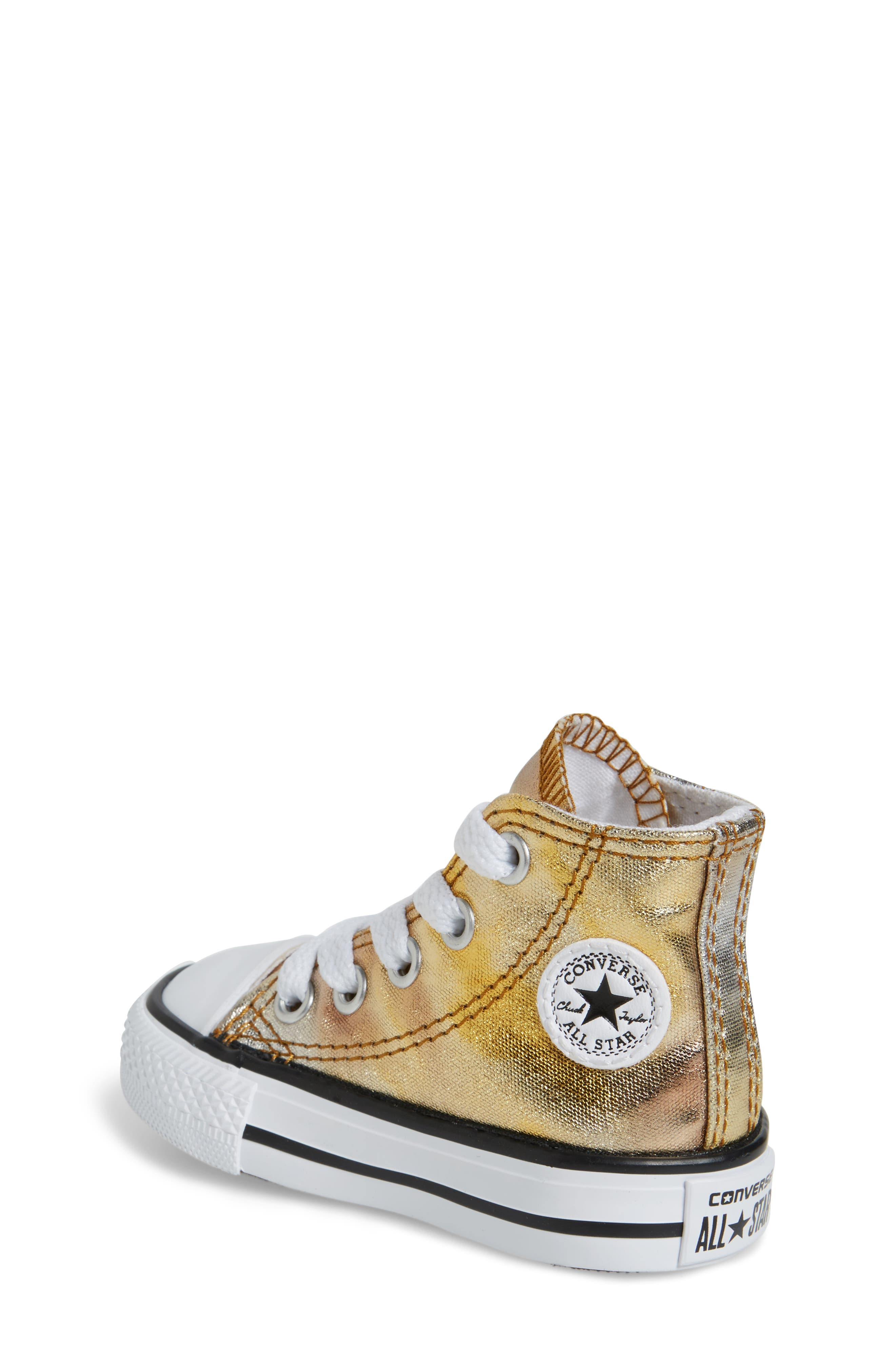 Chuck Taylor<sup>®</sup> All Star<sup>®</sup> Metallic High Top Sneaker,                             Alternate thumbnail 4, color,
