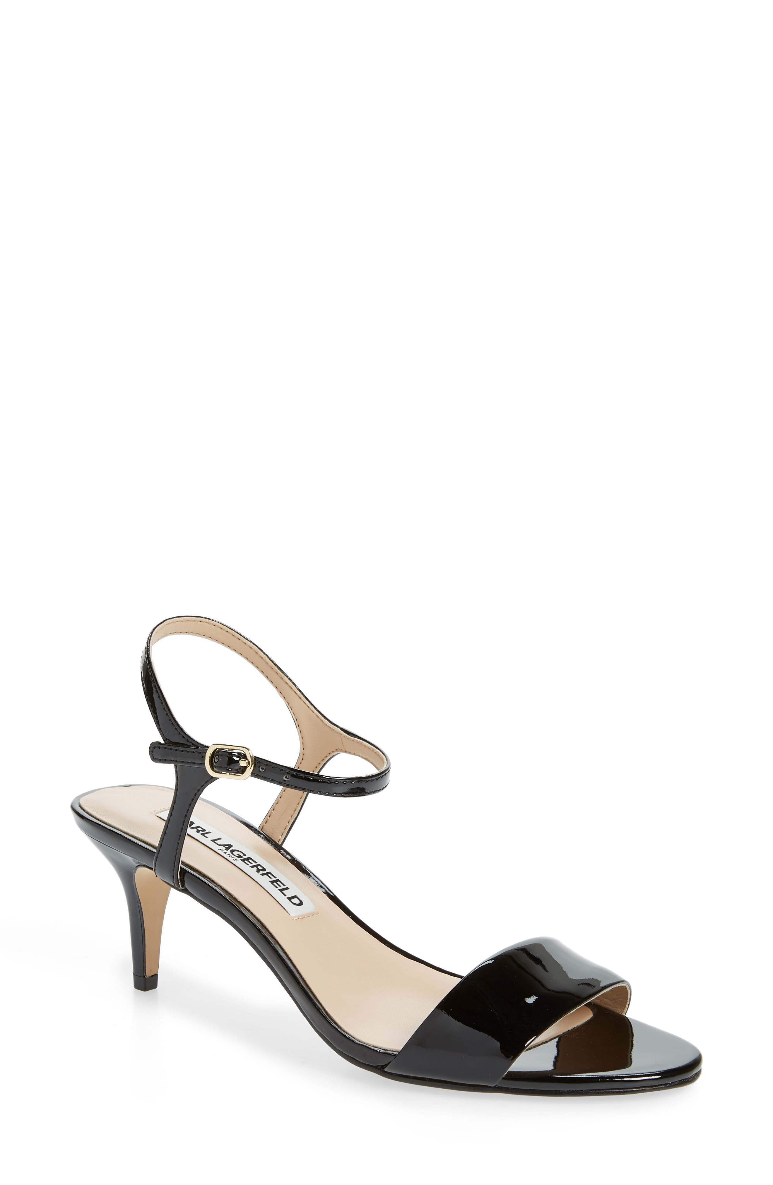 fa7ec75a7091d A demure kitten heel provides just-right lift to a svelte strappy sandal  furnished with a memory foam footbed for comfort that lasts from desk to  dinner.