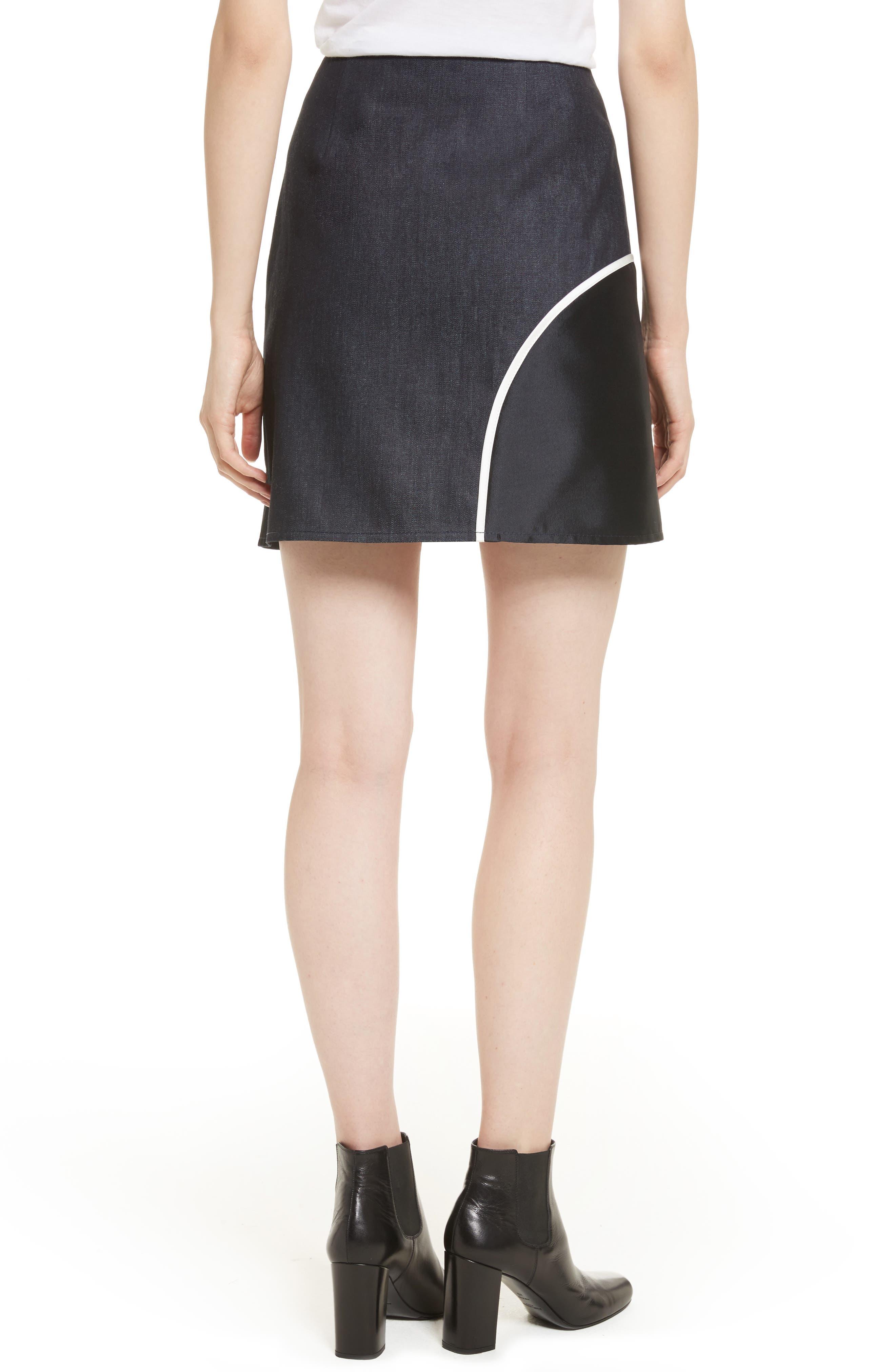 Roberto Mixed Media Skirt,                             Alternate thumbnail 2, color,                             400