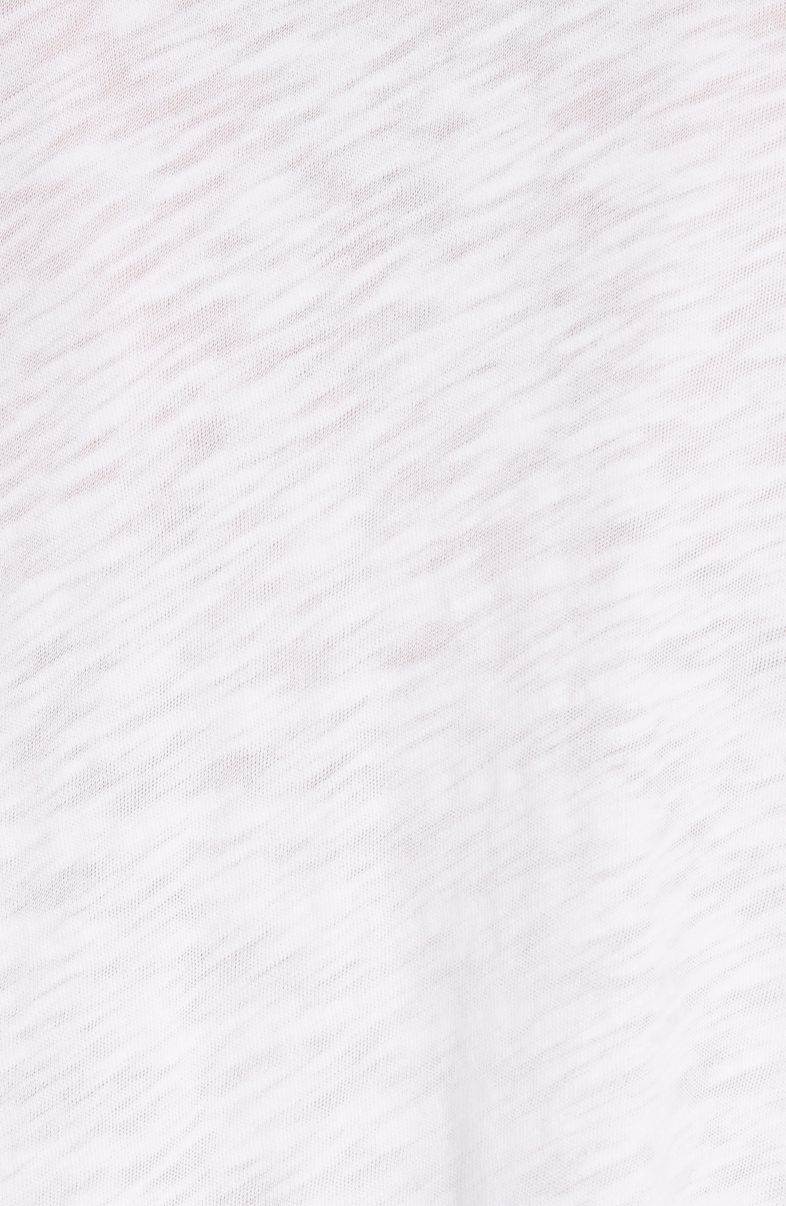 Slub Jersey Boyfriend Tee,                             Alternate thumbnail 5, color,                             WHITE