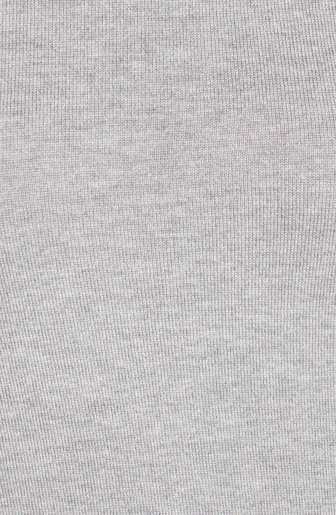 Cuff Detail Silk Blend Crewneck Sweater,                             Alternate thumbnail 5, color,                             030