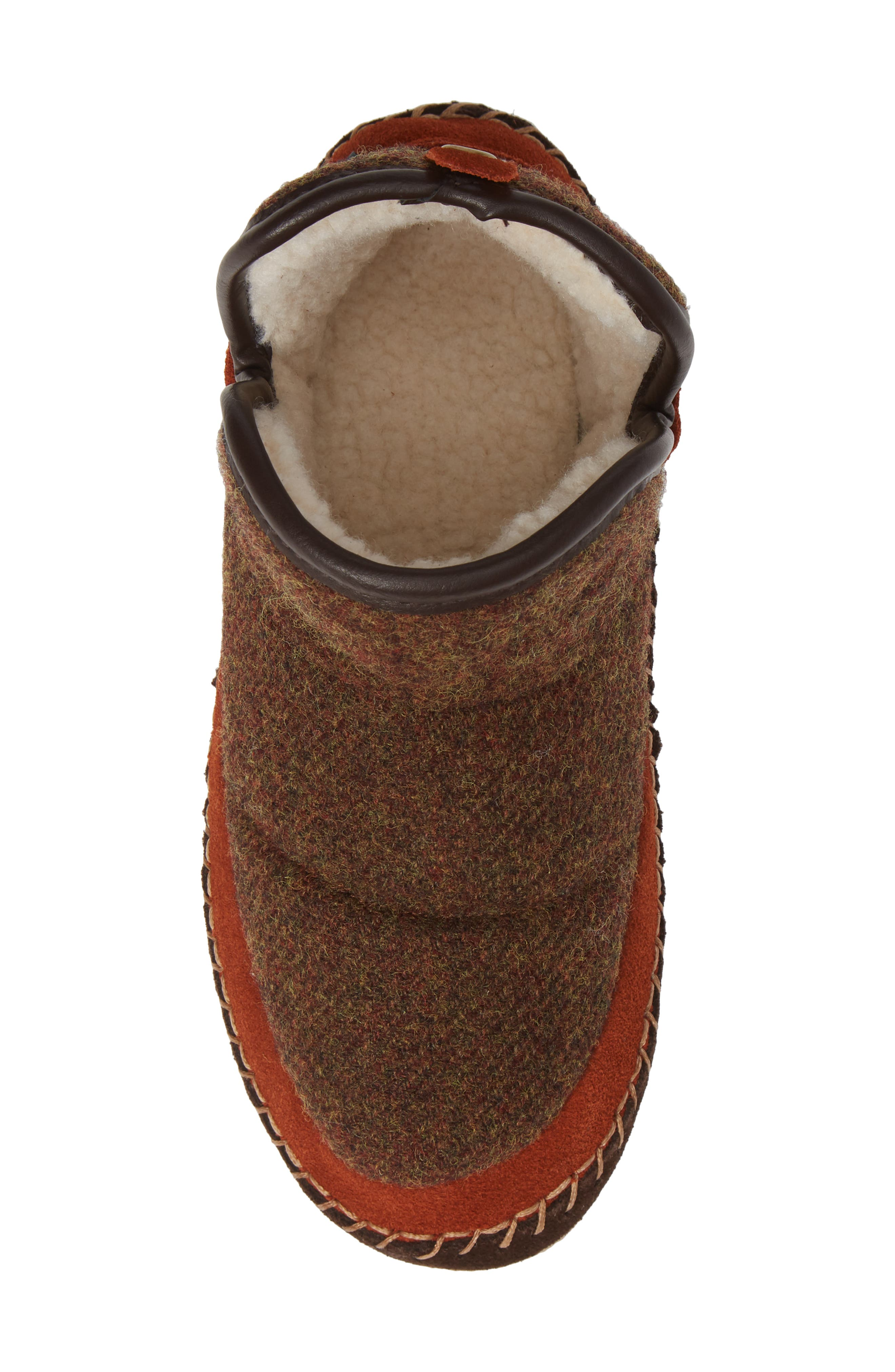 WOOLRICH,                             Glamper Slipper Bootie,                             Alternate thumbnail 5, color,                             SPICED CIDER WOOL