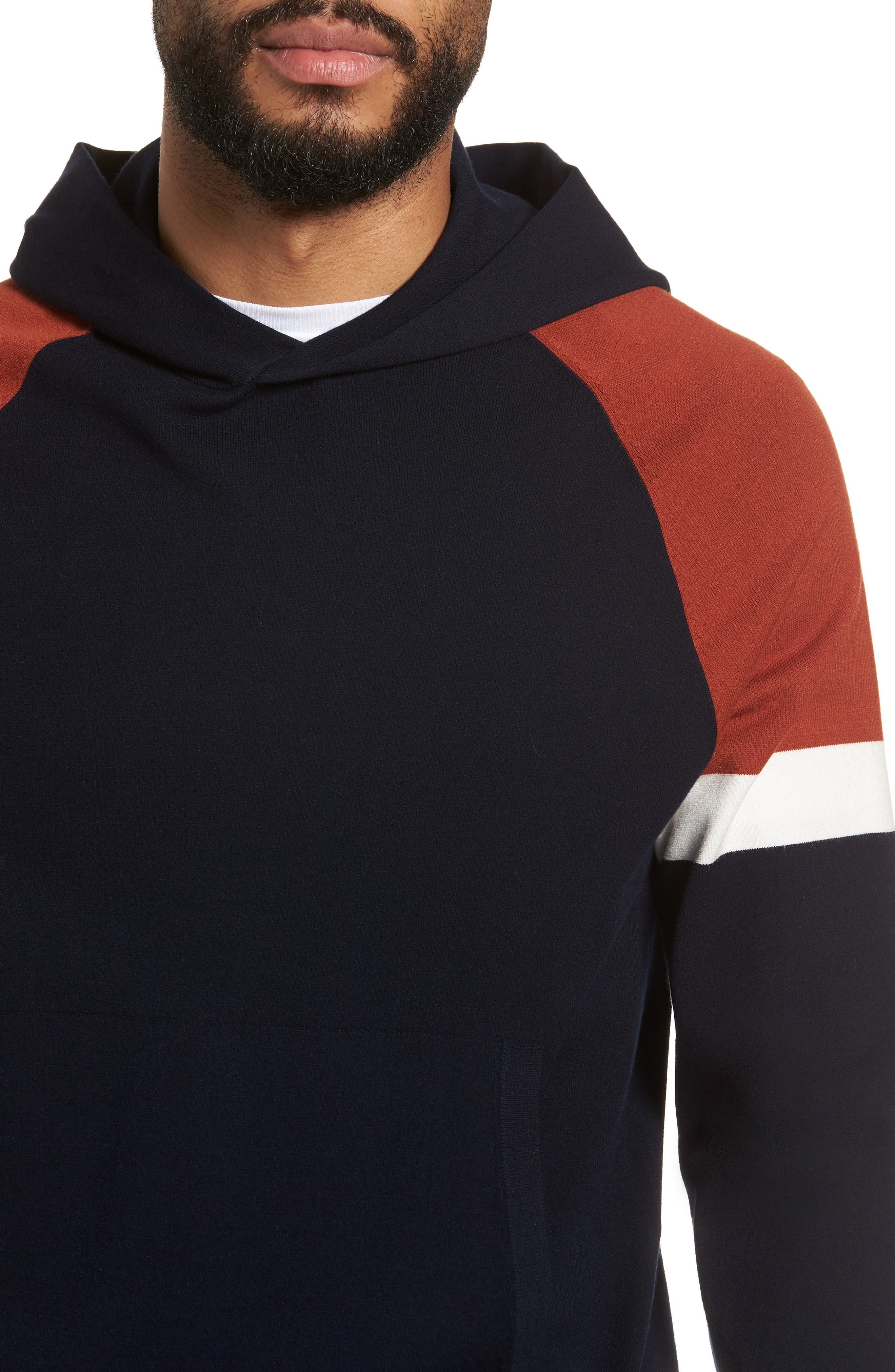 Colorblocked Pullover Hoodie,                             Alternate thumbnail 8, color,