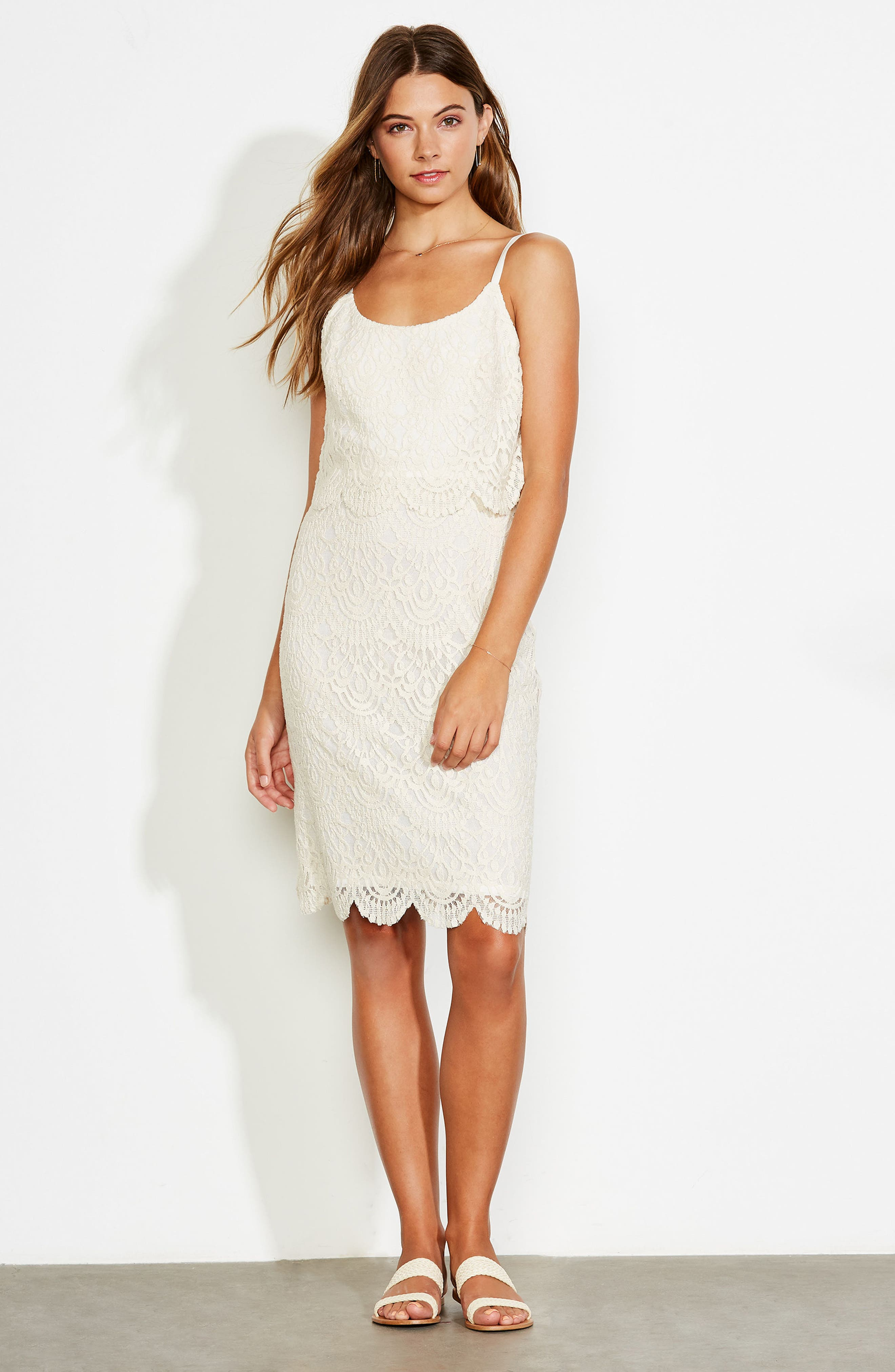 Barnsdall Afternoon Tiered Lace Dress,                             Alternate thumbnail 7, color,                             900