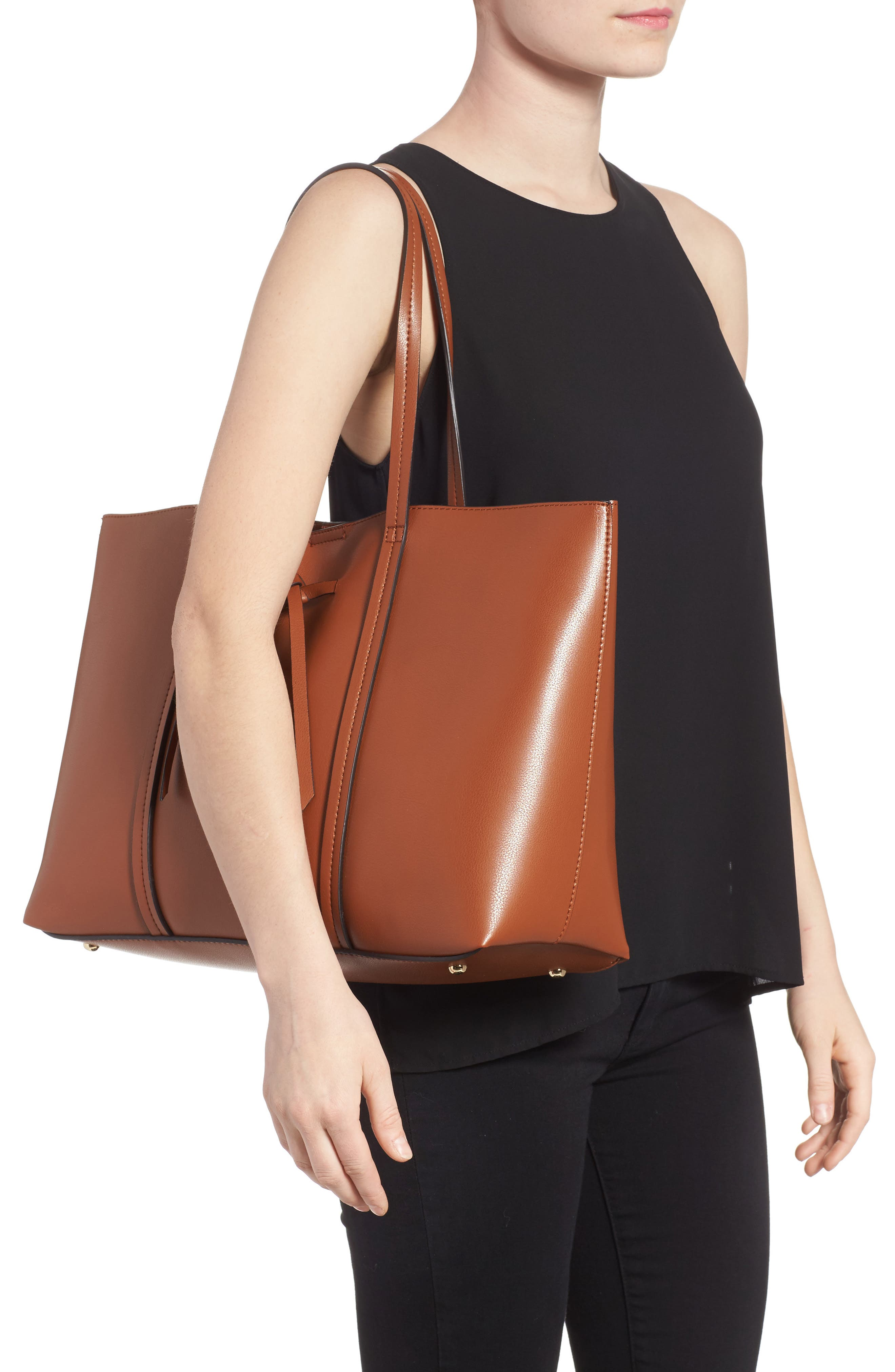 Oversize City Faux Leather Tote,                             Alternate thumbnail 2, color,                             200