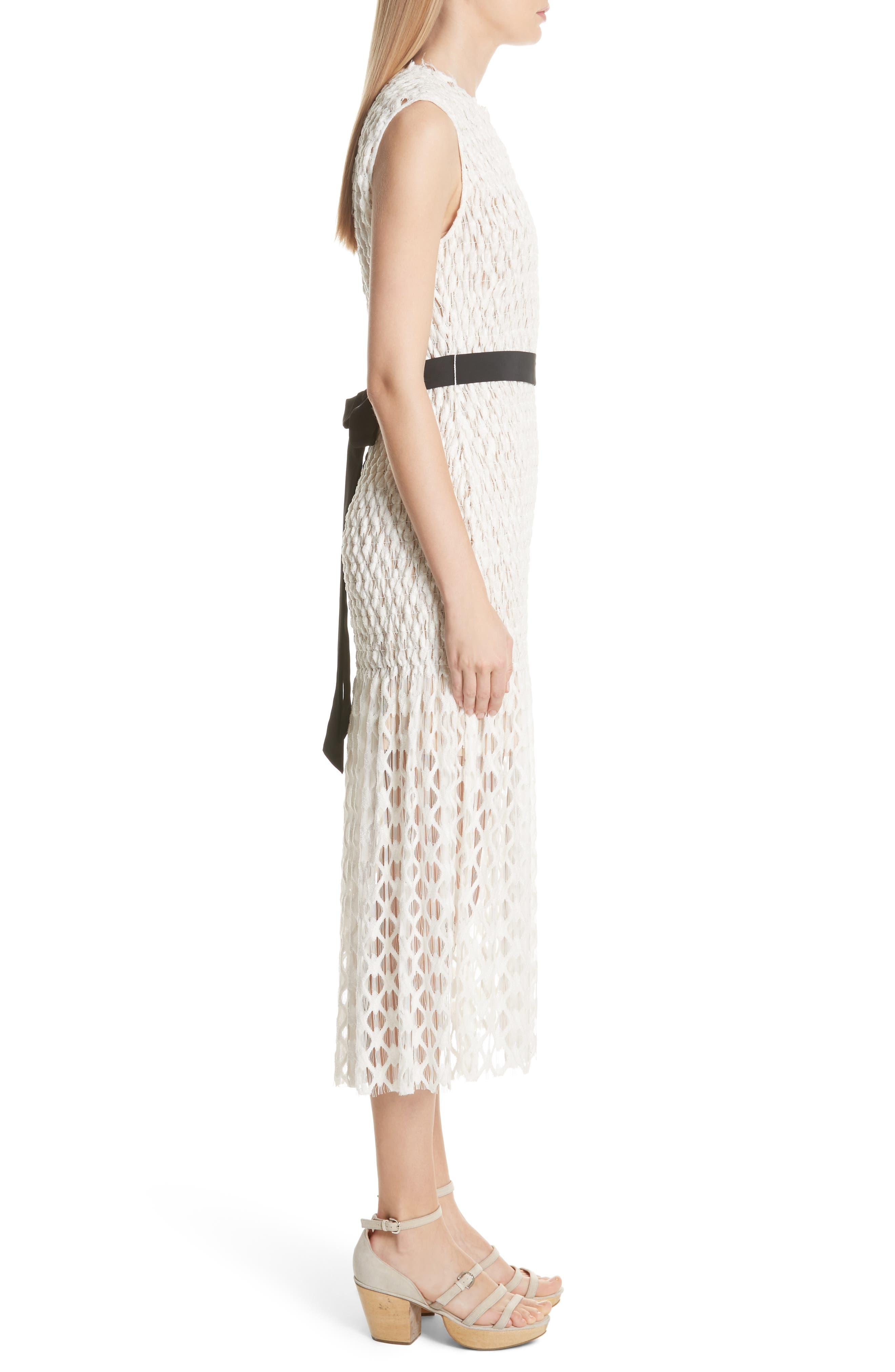 Merge Midi Dress,                             Alternate thumbnail 3, color,                             OFF WHITE