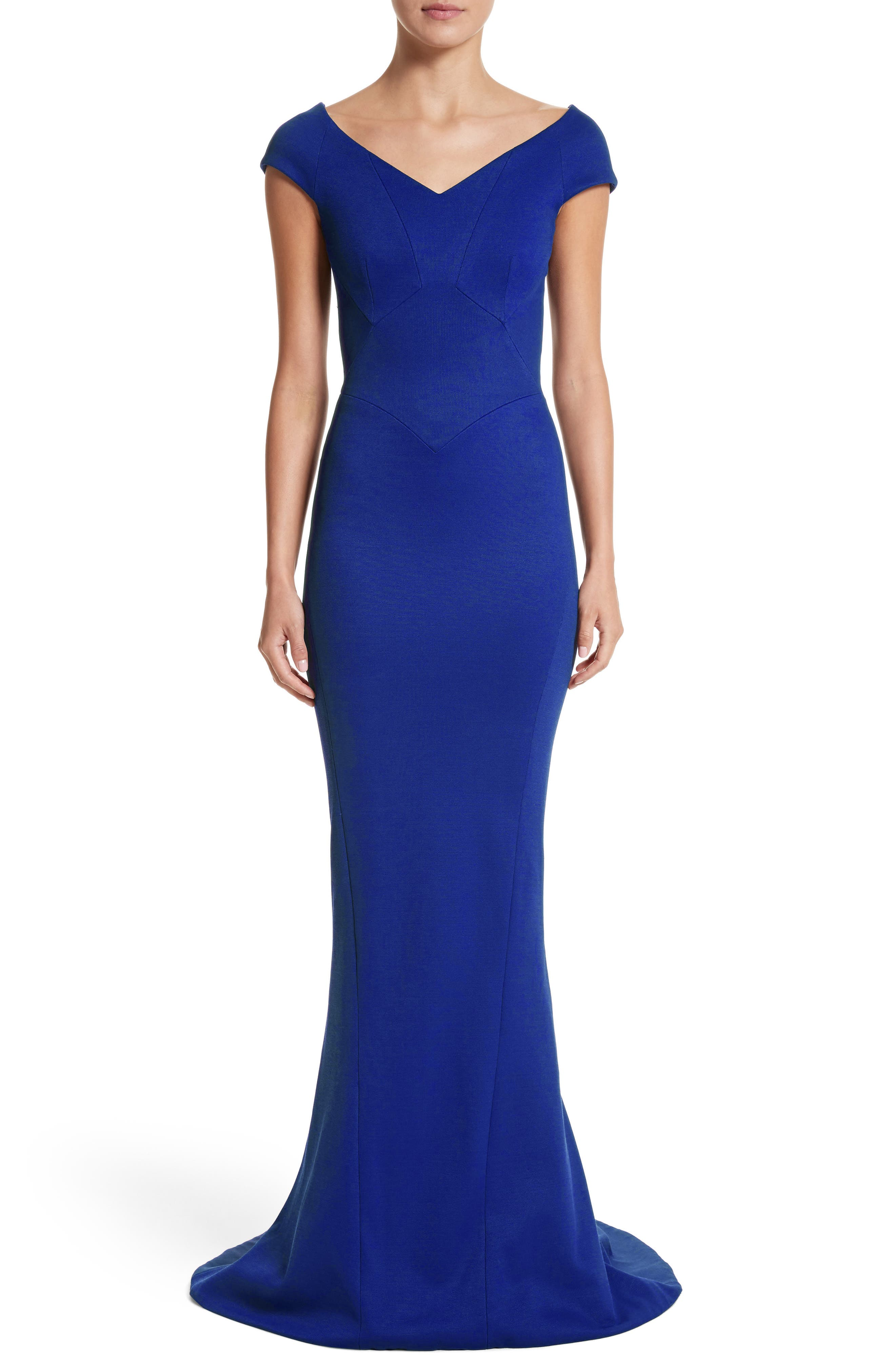 Bonded Jersey Mermaid Gown,                             Main thumbnail 2, color,